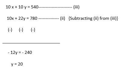 Pair of Linear Equations in Two Variables Objective Questions-1