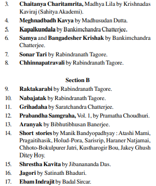 UPSC Bengali Literature Syllabus- Bengali Literature Optional Syllabus Paper-II 3