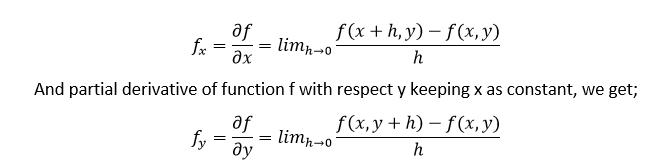 Partial Derivative Formula