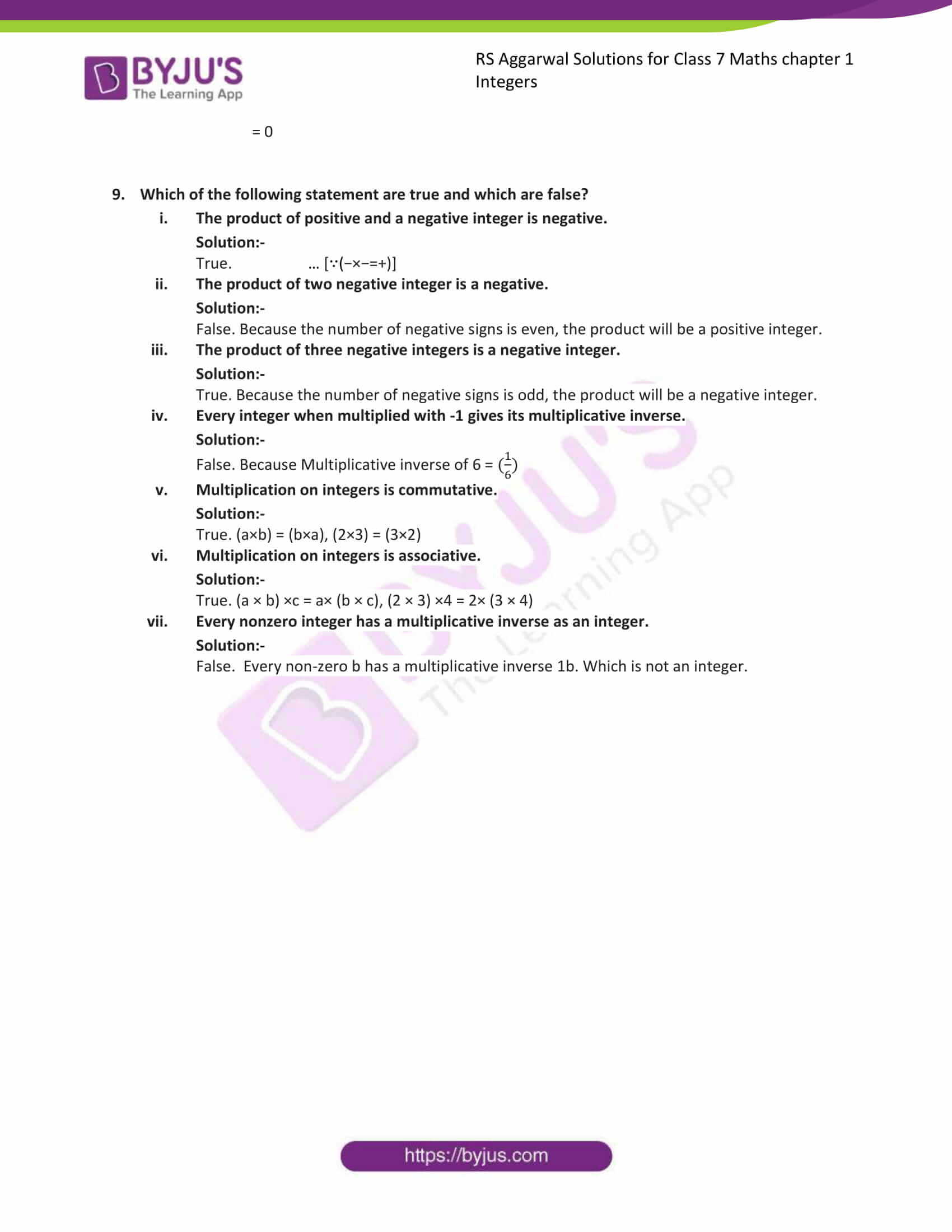 rs aggarwal solution class 7 maths chapter 1
