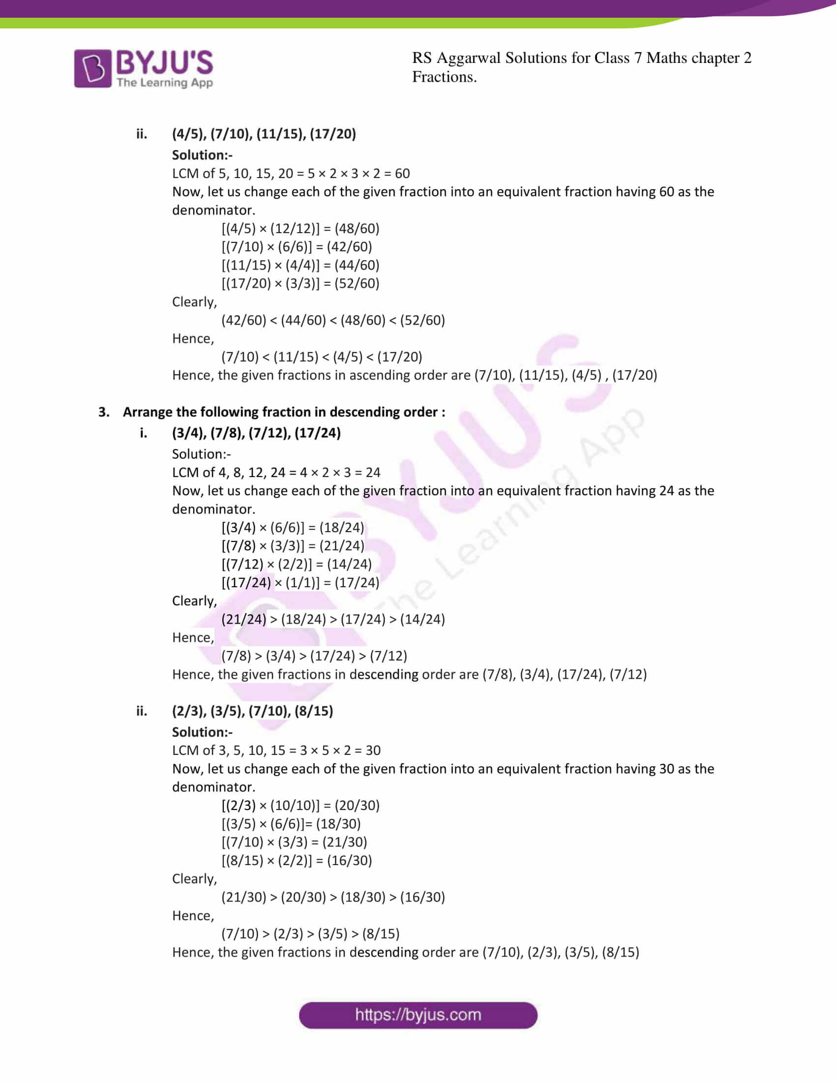 rs aggarwal solution class 7 maths chapter ex 2a