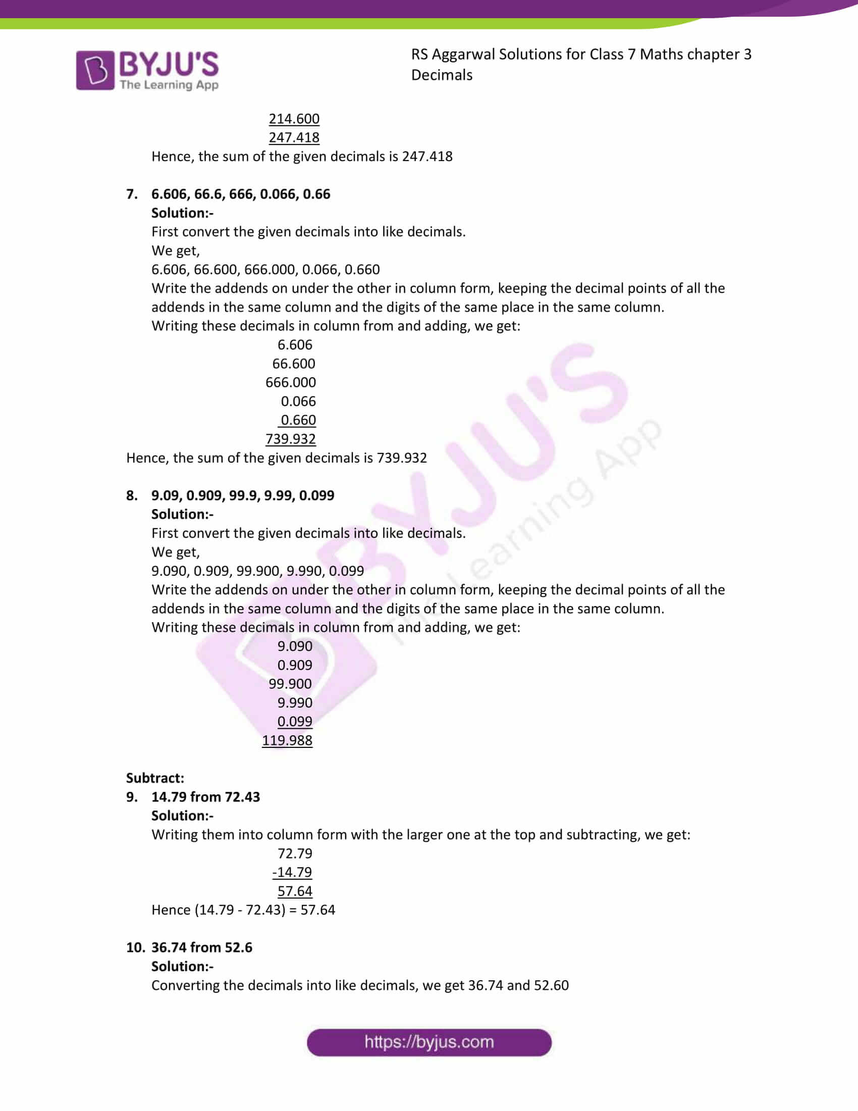rs aggarwal solution class 7 maths chapter ex 3b
