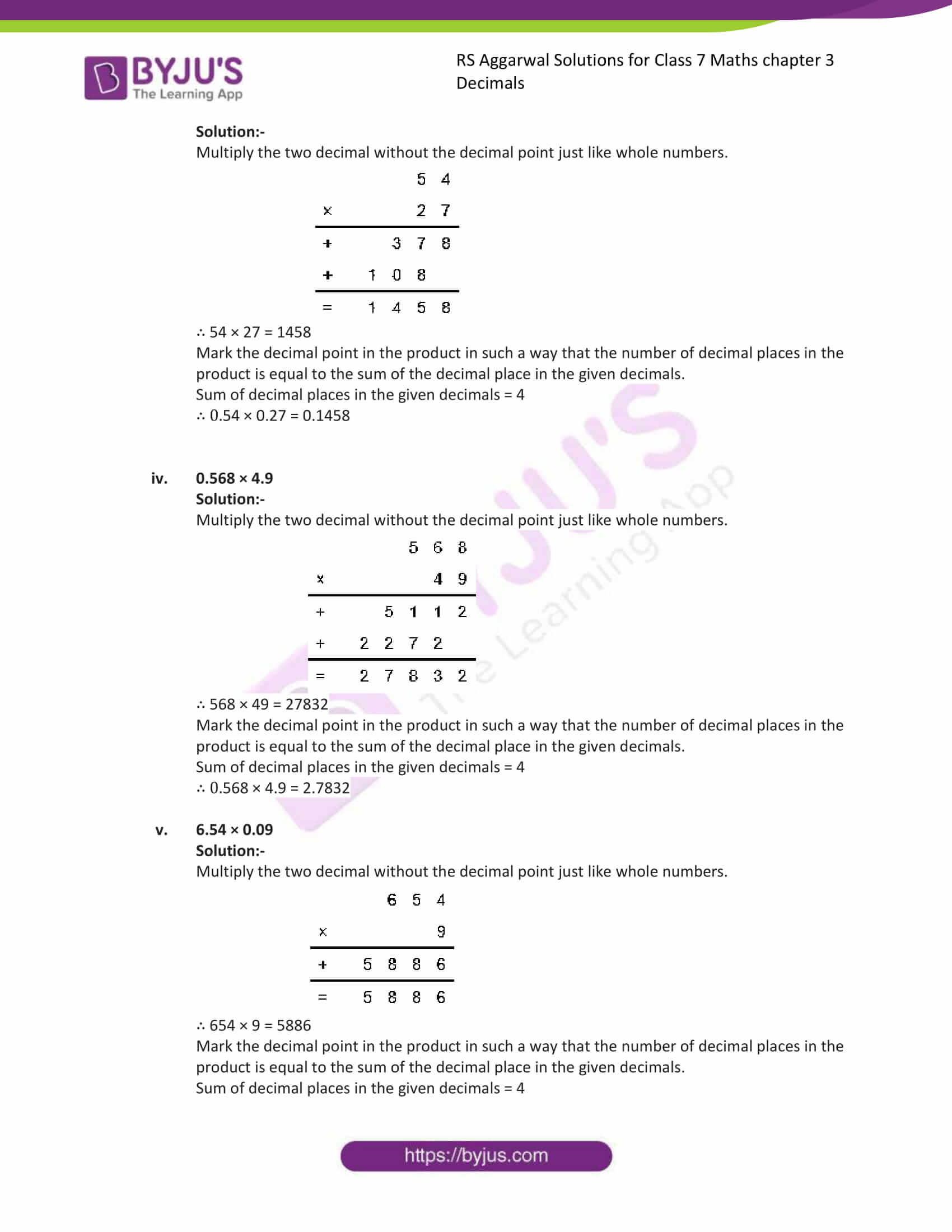 rs aggarwal solution class 7 maths chapter ex 3c