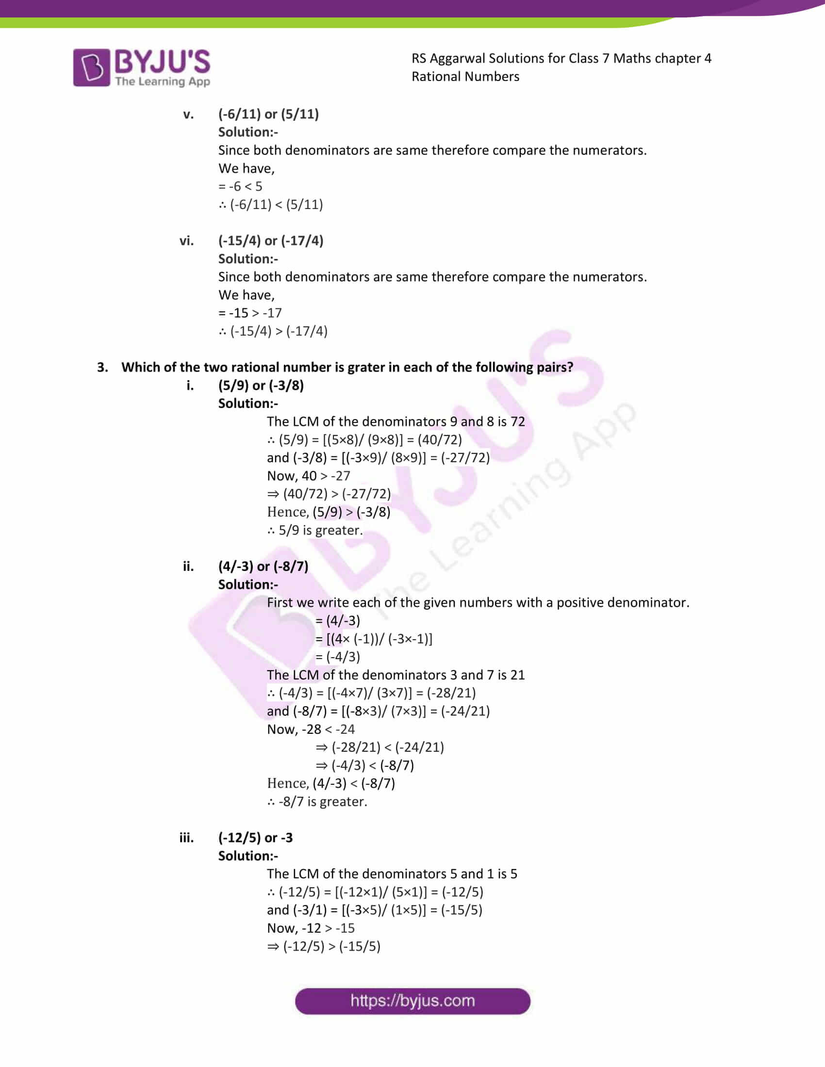 rs aggarwal solution class 7 maths chapter ex 4b