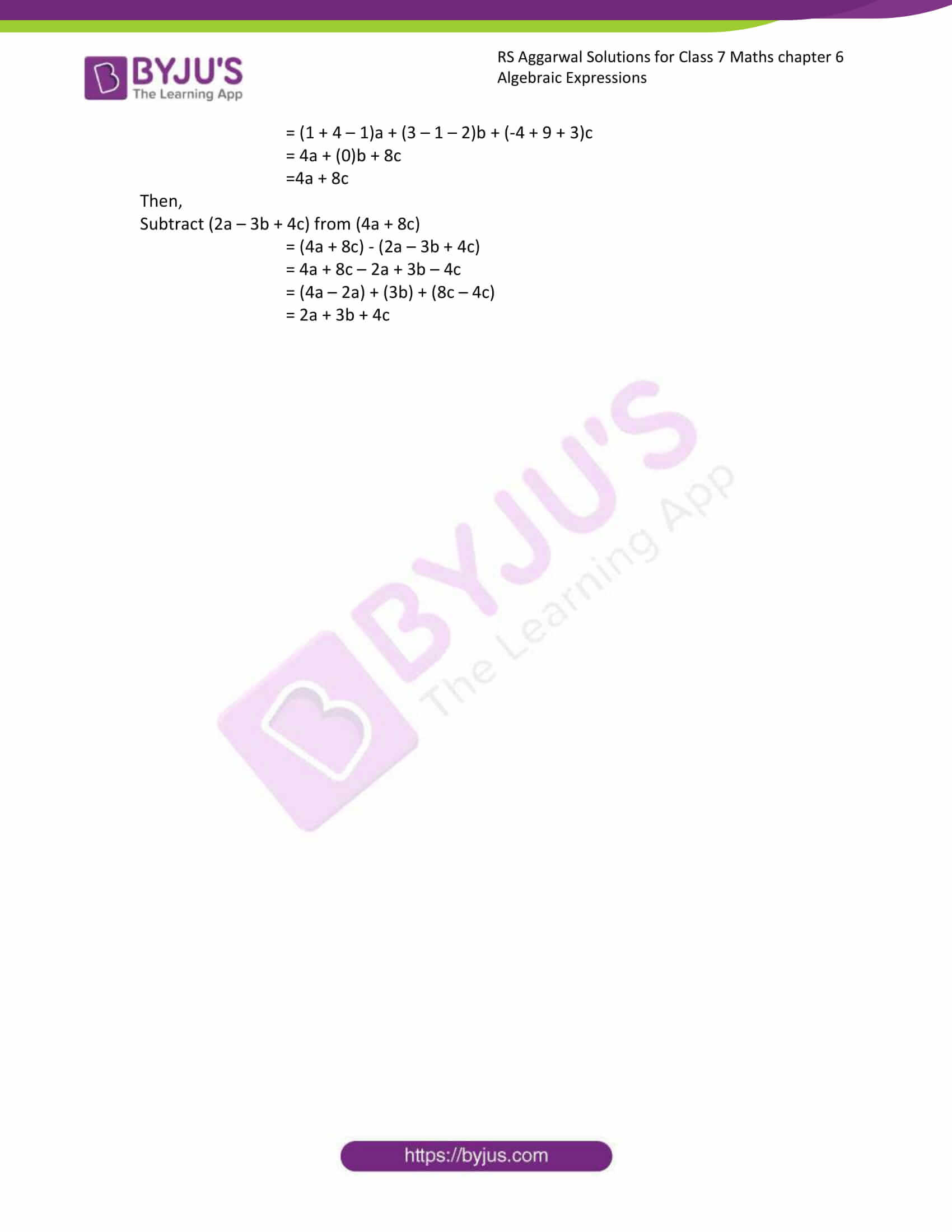 rs aggarwal solution class 7 maths chapter ex 6a