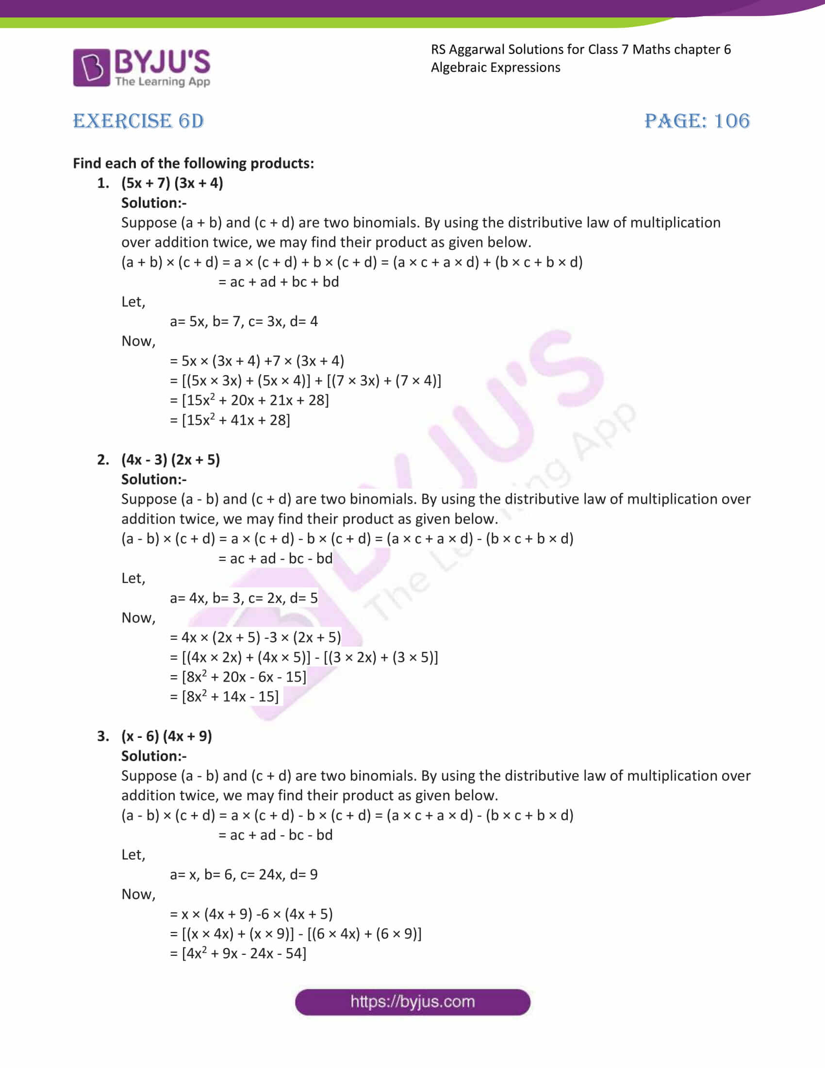 rs aggarwal solution class 7 maths chapter ex 6d