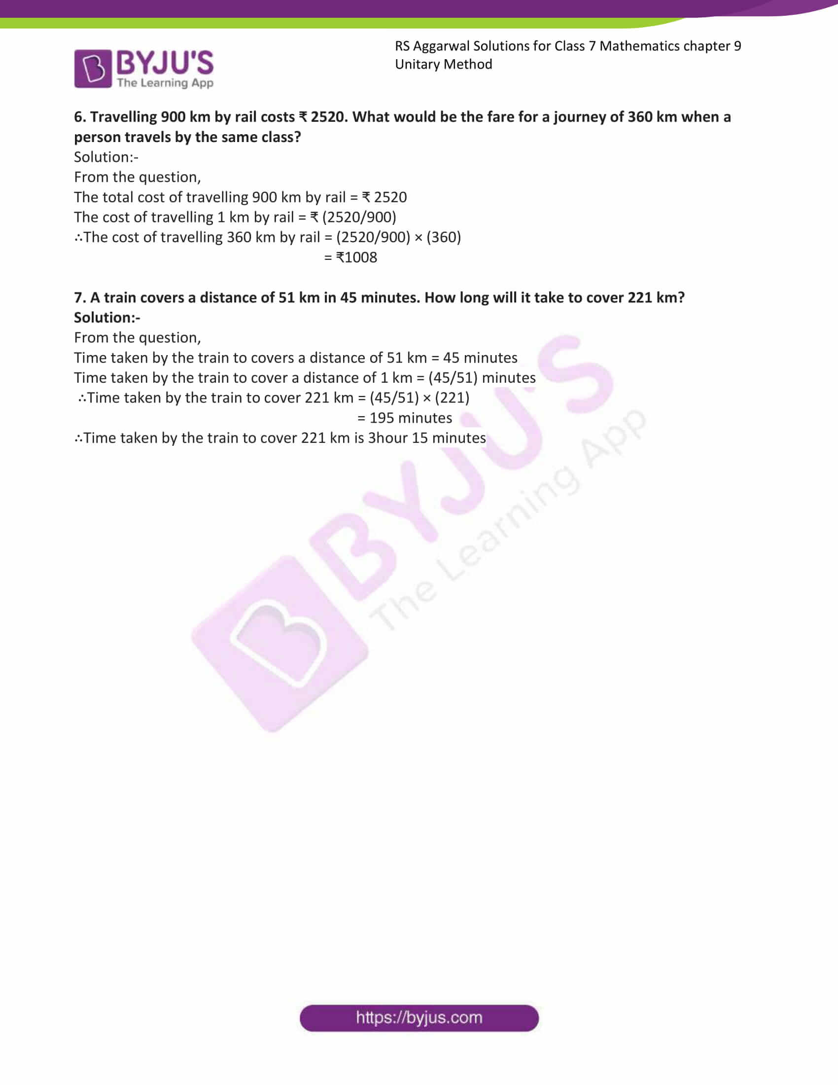 rs aggarwal solution class 7 maths chapter 9a