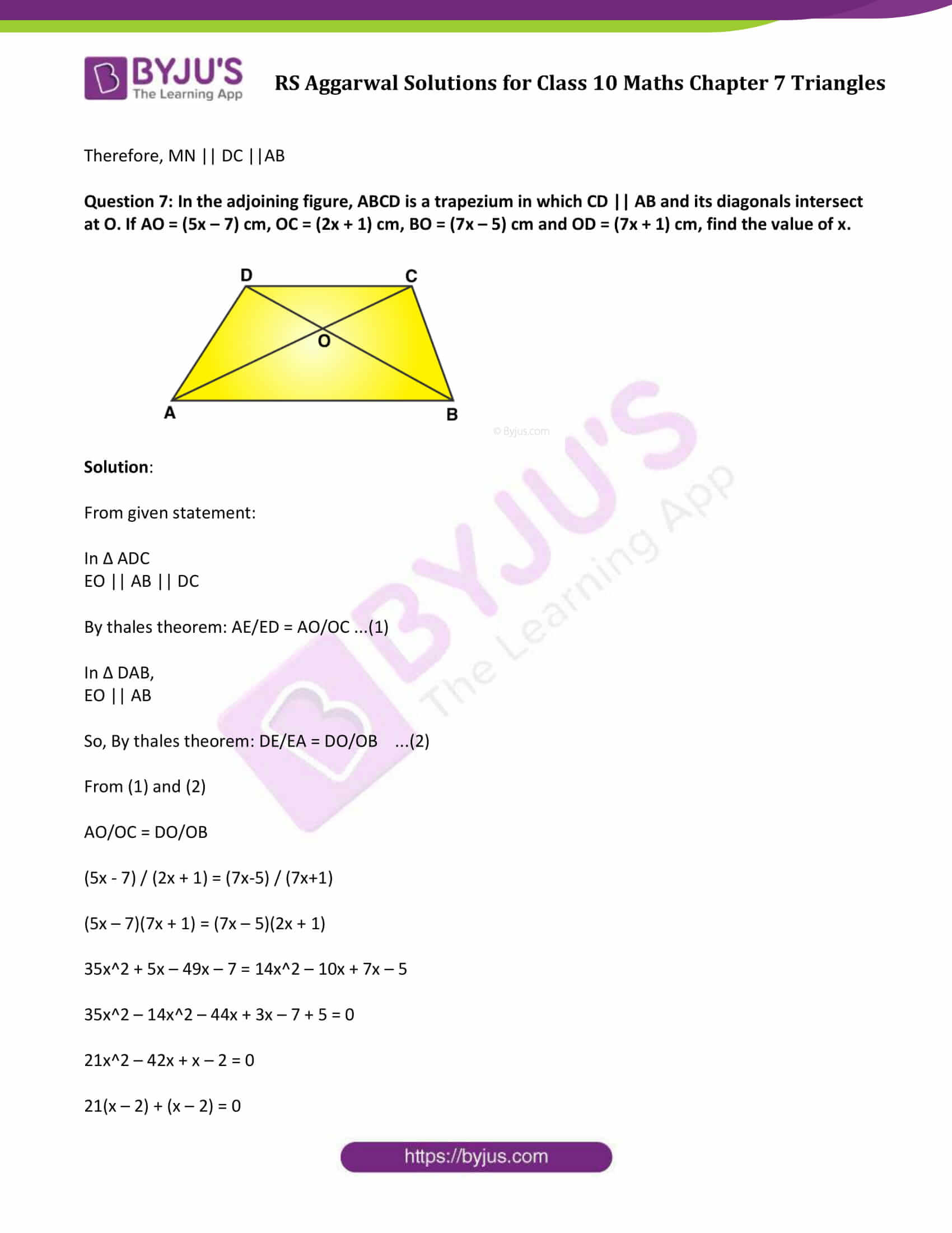 RS Aggarwal Solutions Class 10 Maths Chapter 7 Ex 7a 10