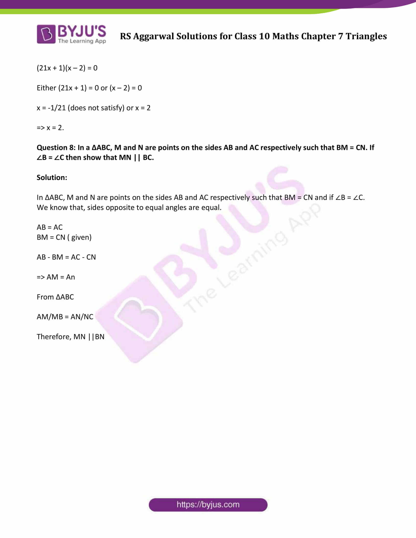 RS Aggarwal Solutions Class 10 Maths Chapter 7 Ex 7a 11