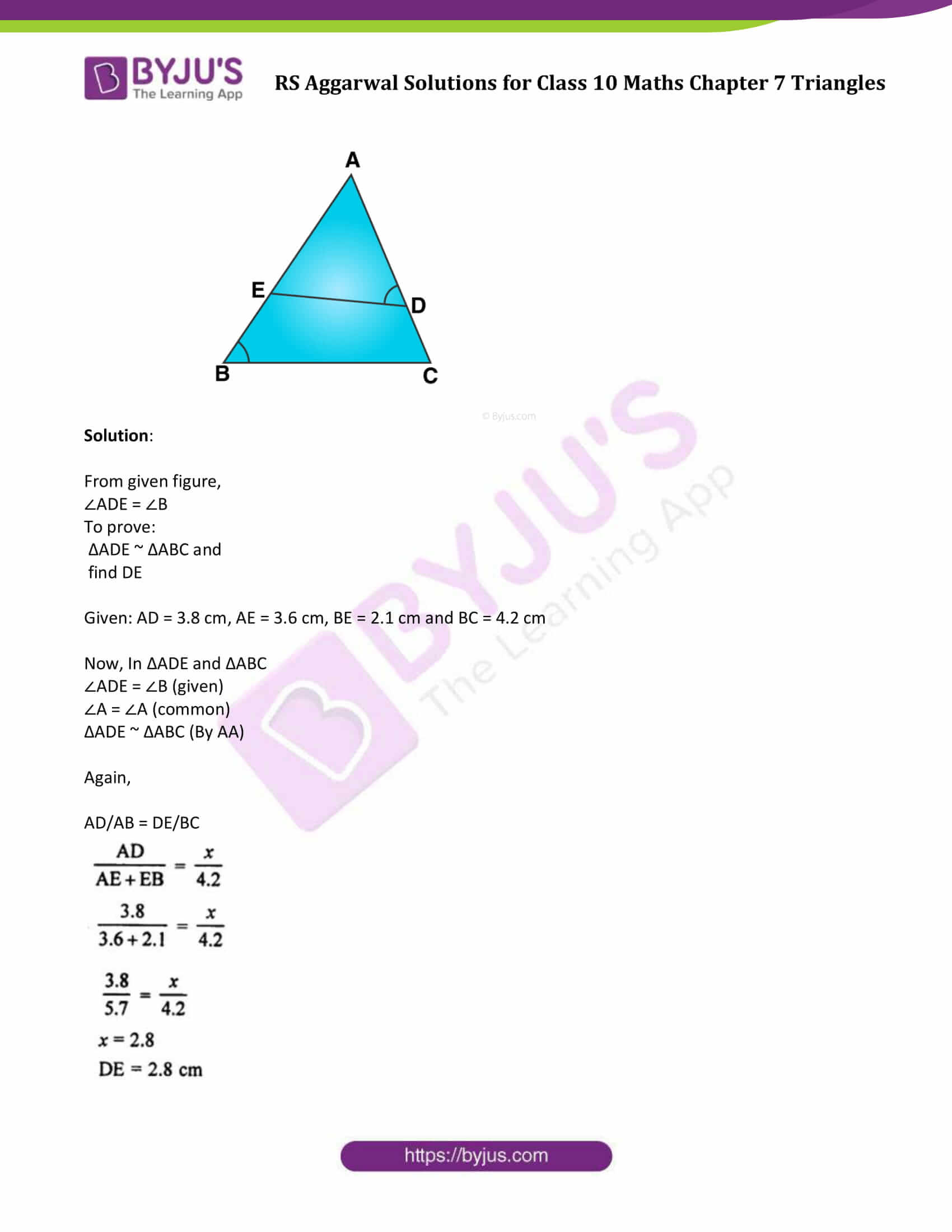 RS Aggarwal Solutions Class 10 Maths Chapter 7 Ex 7b 6