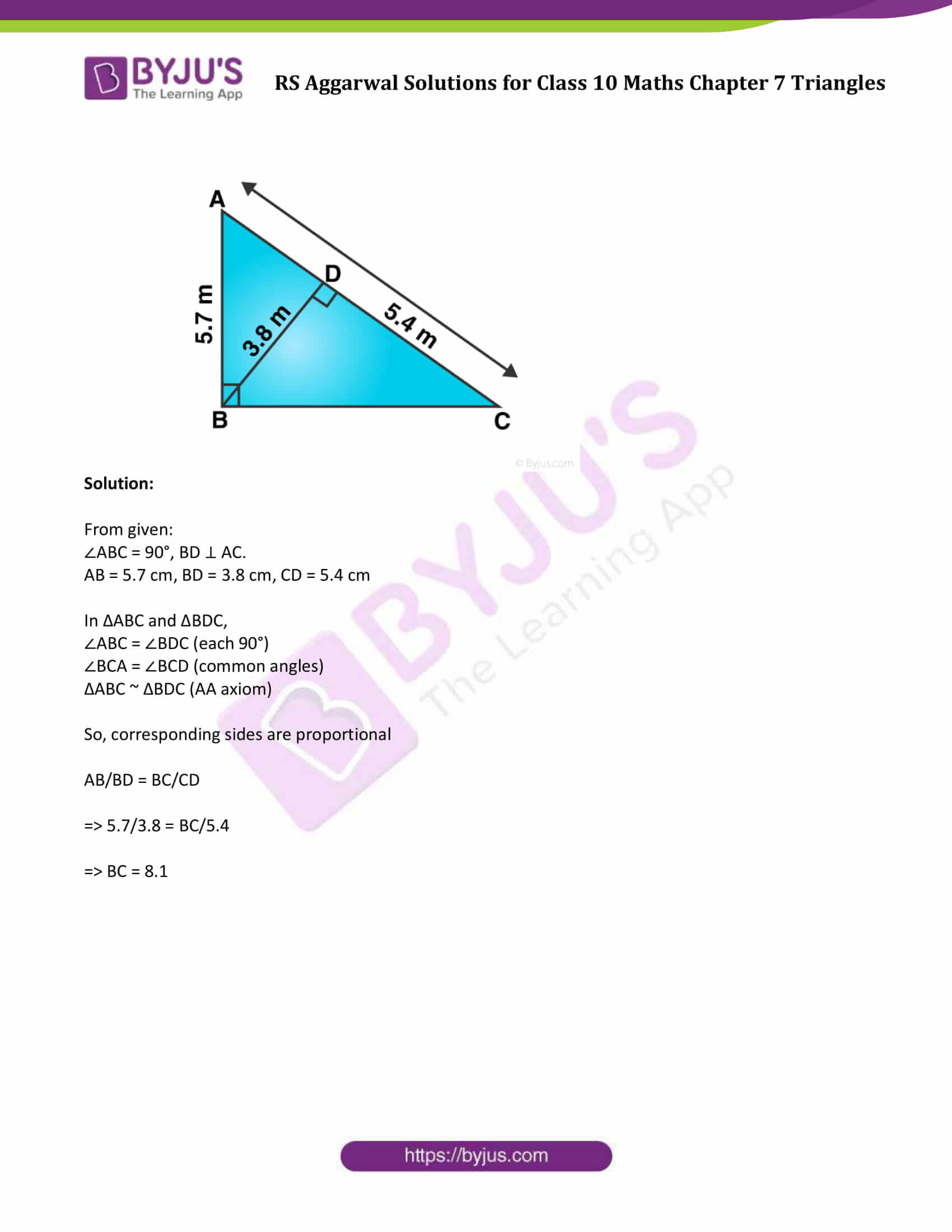 RS Aggarwal Solutions Class 10 Maths Chapter 7 Ex 7b 9