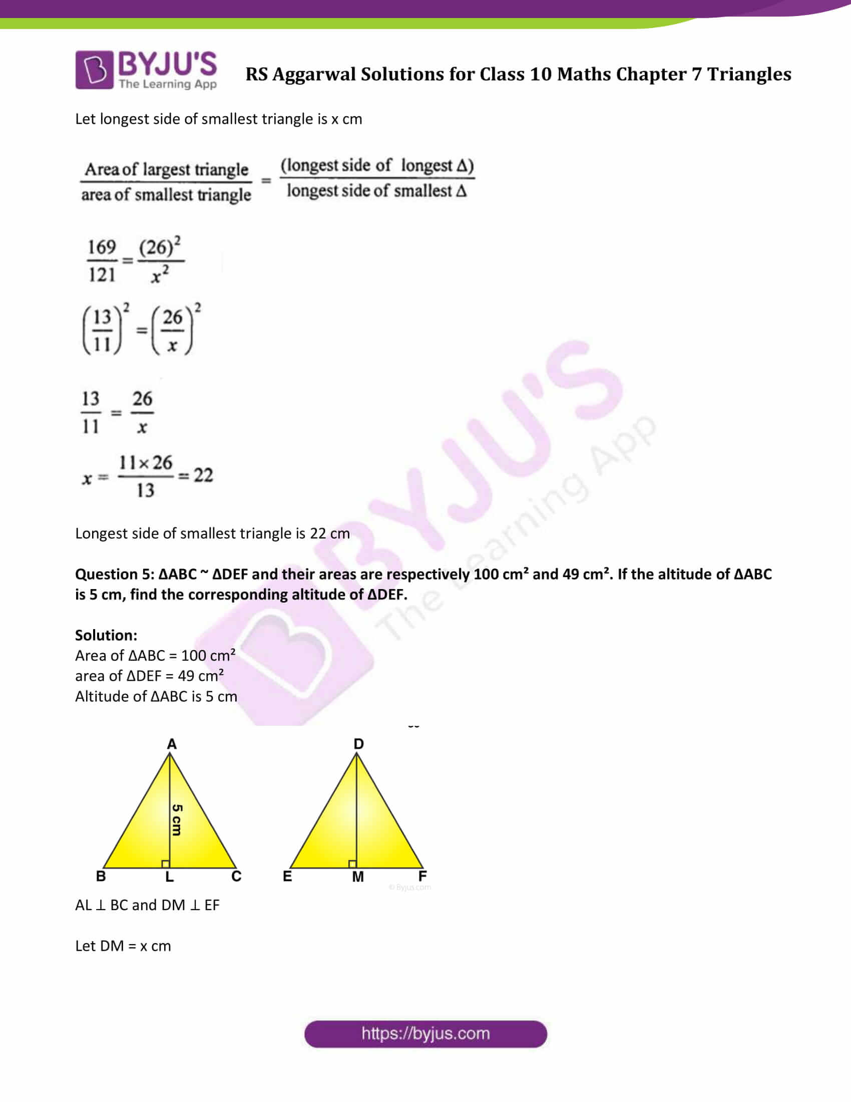 RS Aggarwal Solutions Class 10 Maths Chapter 7 Ex 7c 3