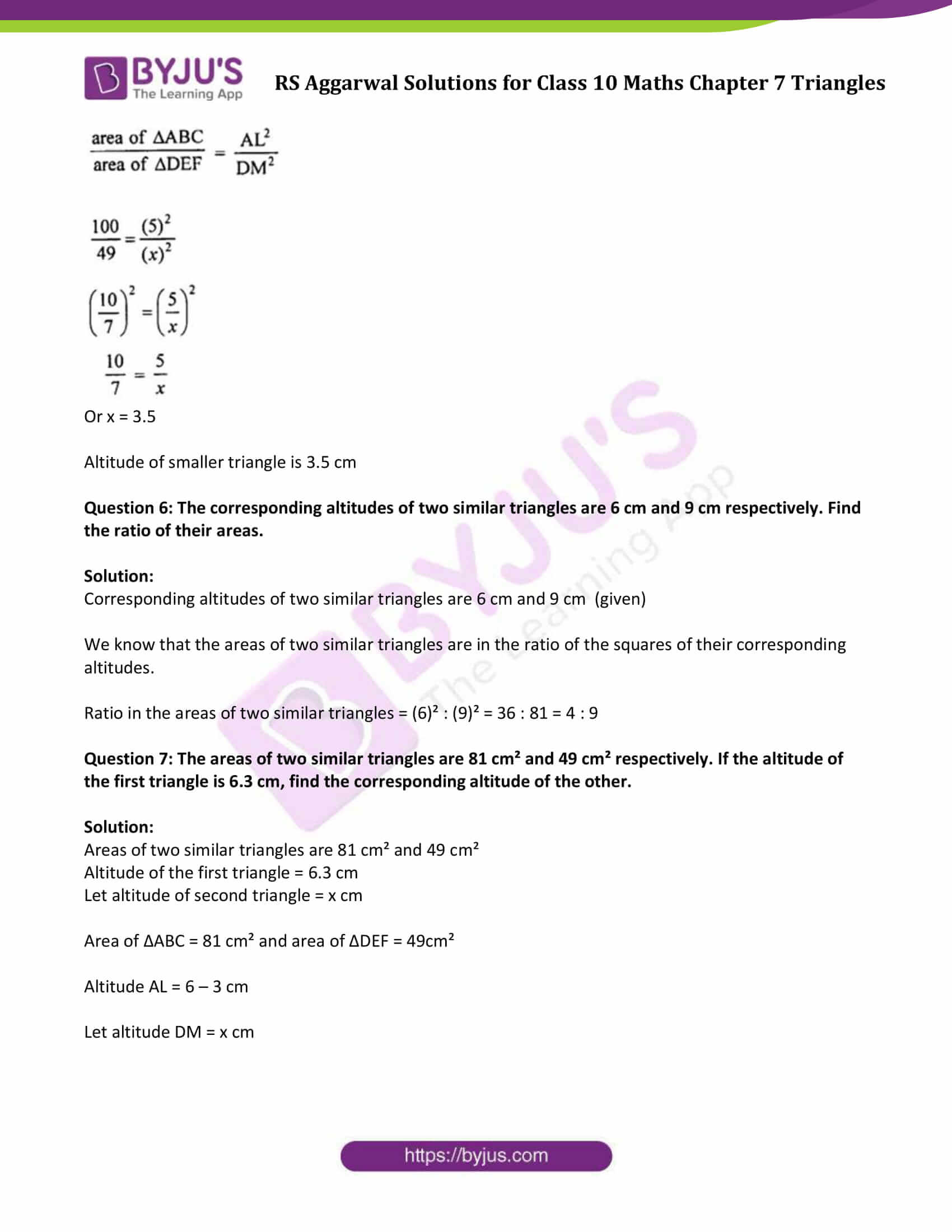 RS Aggarwal Solutions Class 10 Maths Chapter 7 Ex 7c 4