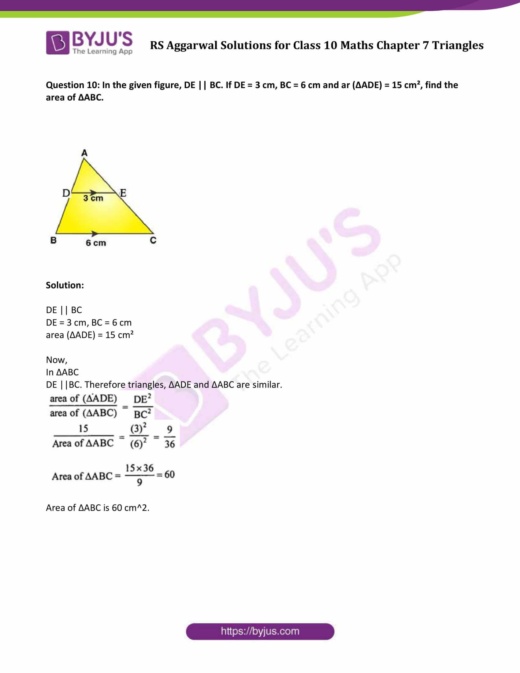 RS Aggarwal Solutions Class 10 Maths Chapter 7 Ex 7c 7