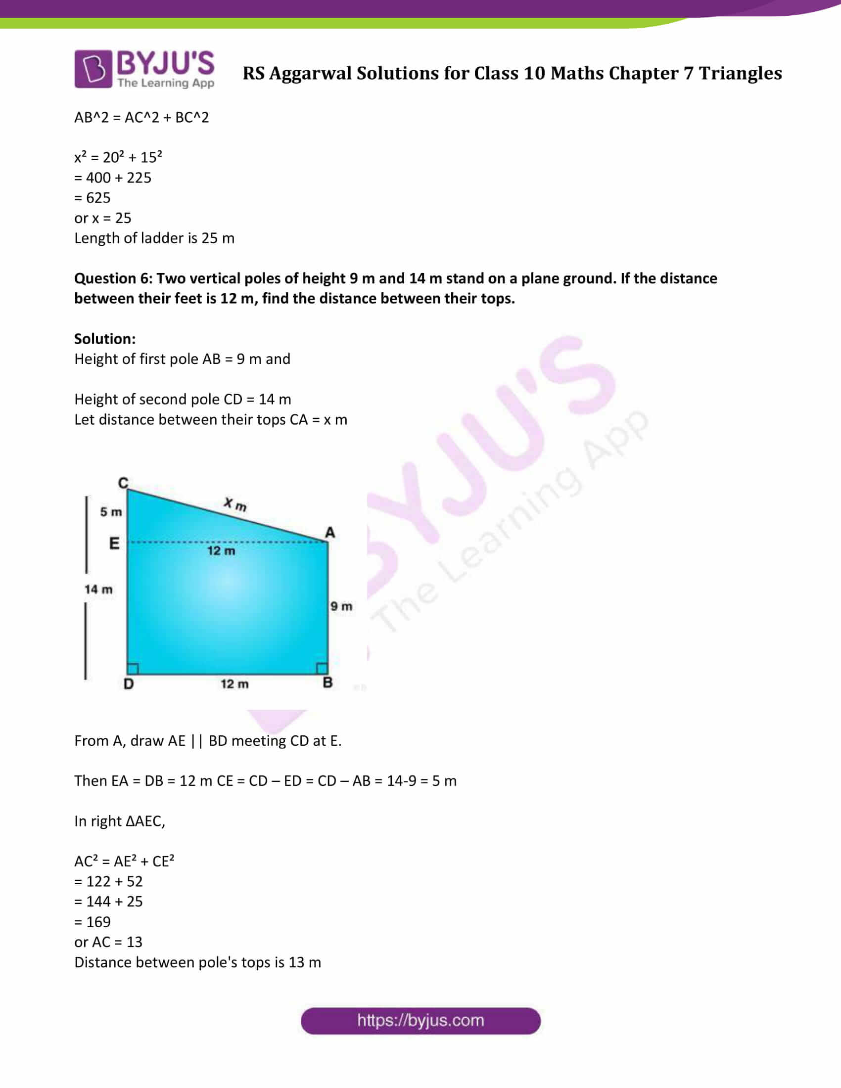 RS Aggarwal Solutions Class 10 Maths Chapter 7 Ex 7d 5