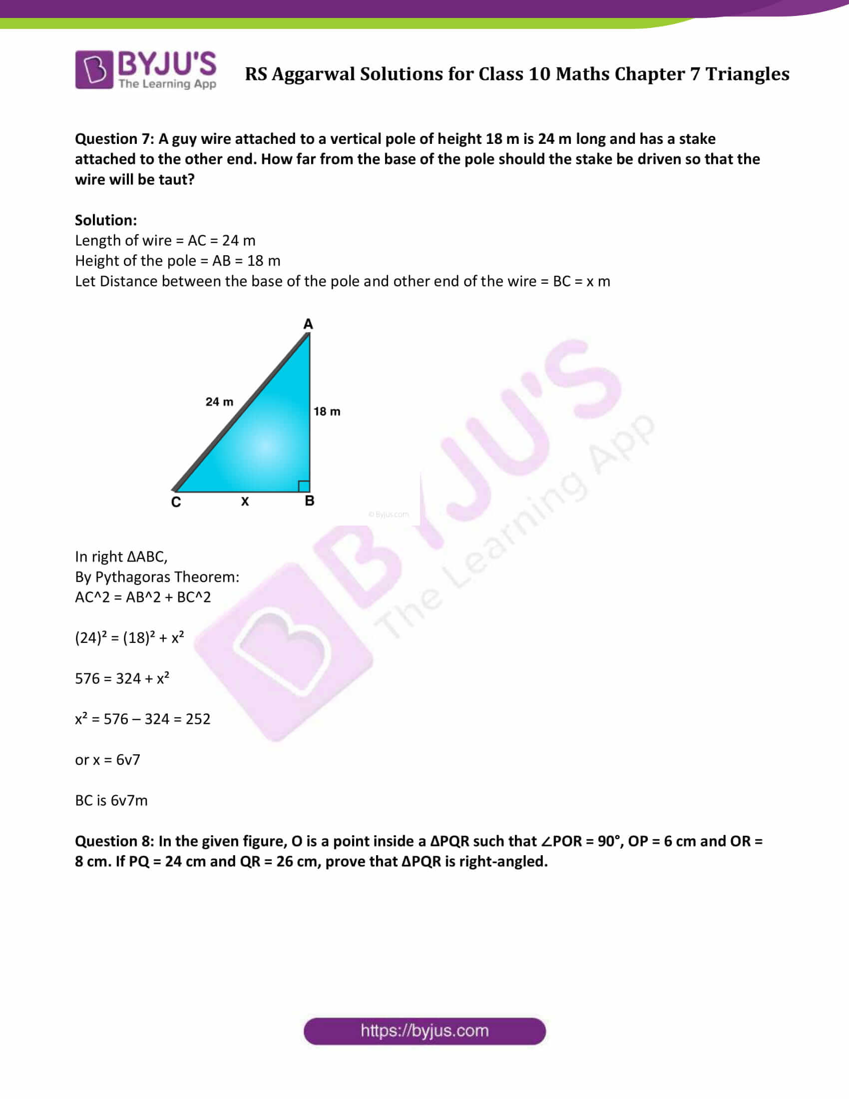 RS Aggarwal Solutions Class 10 Maths Chapter 7 Ex 7d 6
