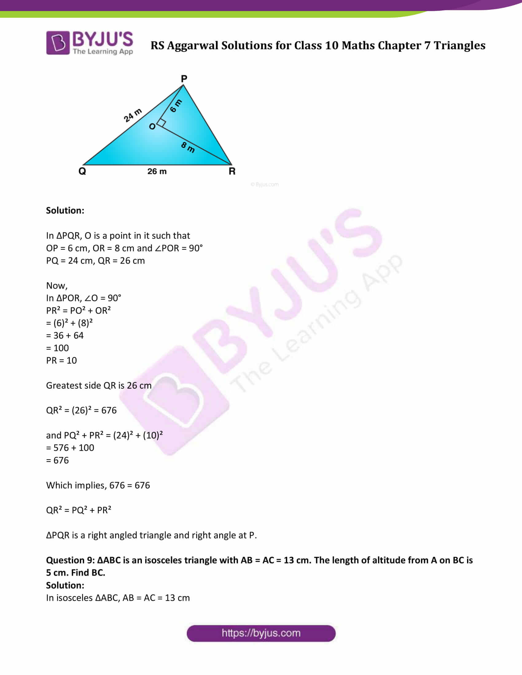 RS Aggarwal Solutions Class 10 Maths Chapter 7 Ex 7d 7