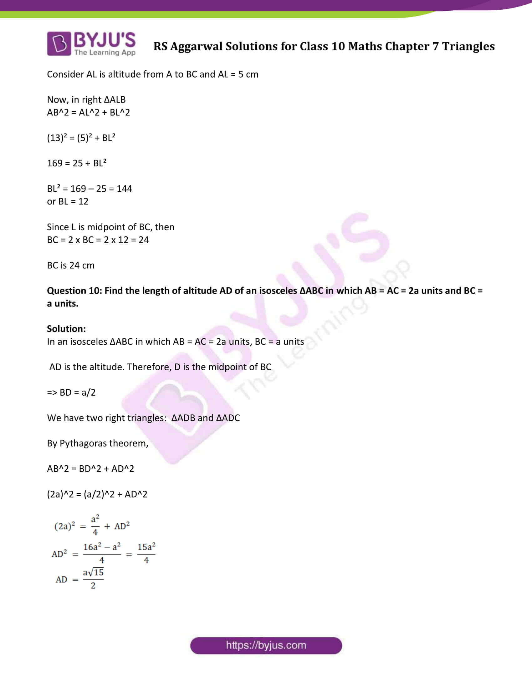 RS Aggarwal Solutions Class 10 Maths Chapter 7 Ex 7d 8