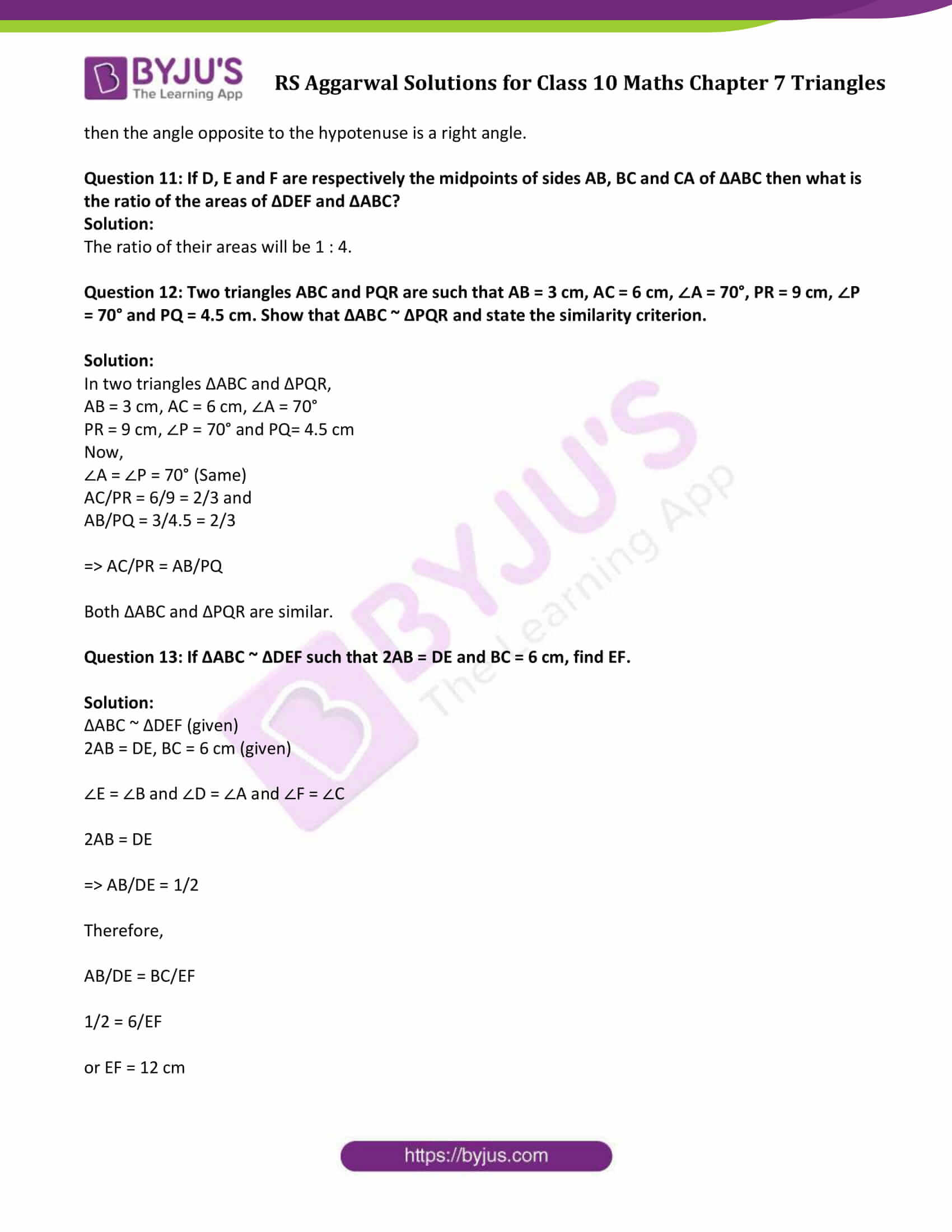 RS Aggarwal Solutions Class 10 Maths Chapter 7 Ex 7e 2
