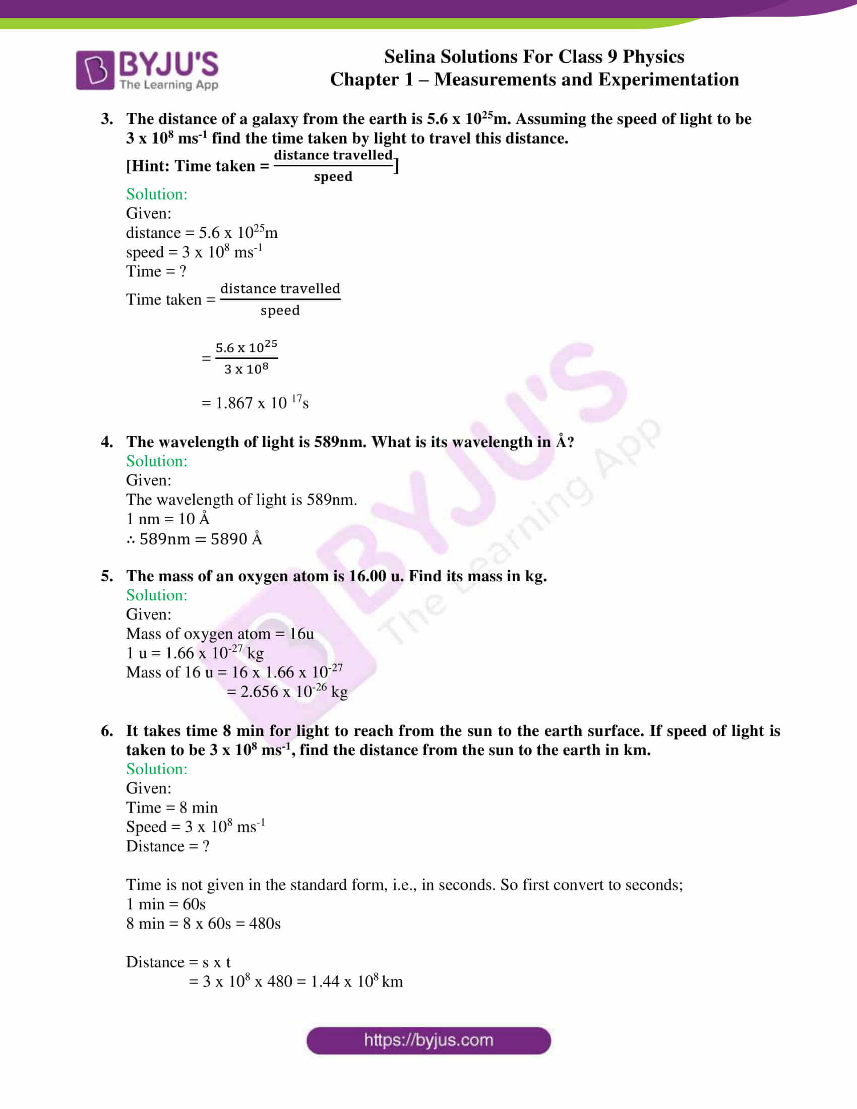 selina solutions class 9 physics chapter 1 Measurements and Experimentation part 08