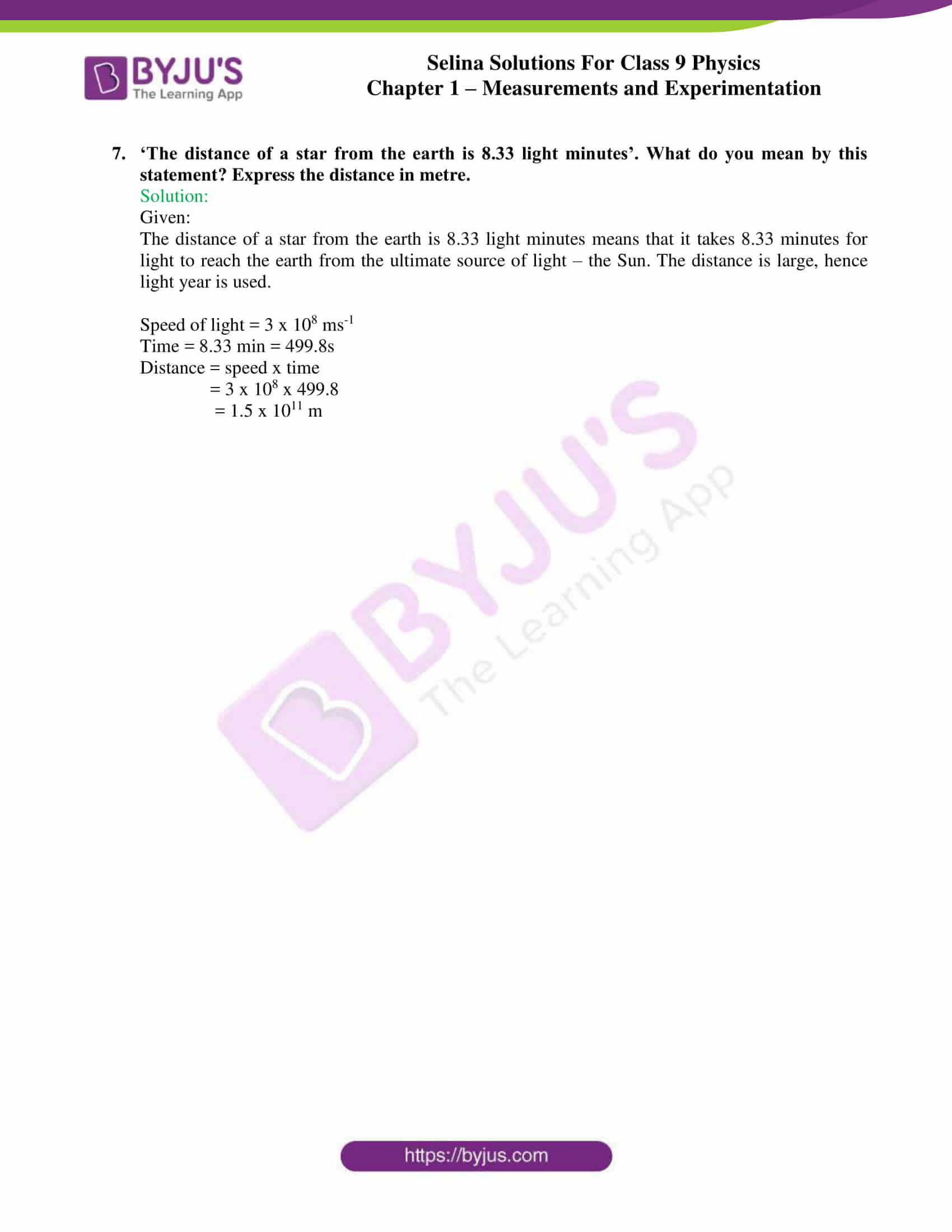 selina solutions class 9 physics chapter 1 Measurements and Experimentation part 09