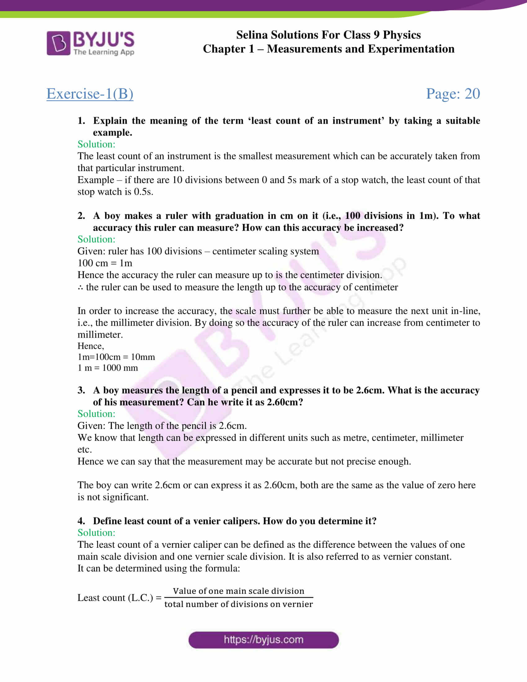 selina solutions class 9 physics chapter 1 Measurements and Experimentation part 10