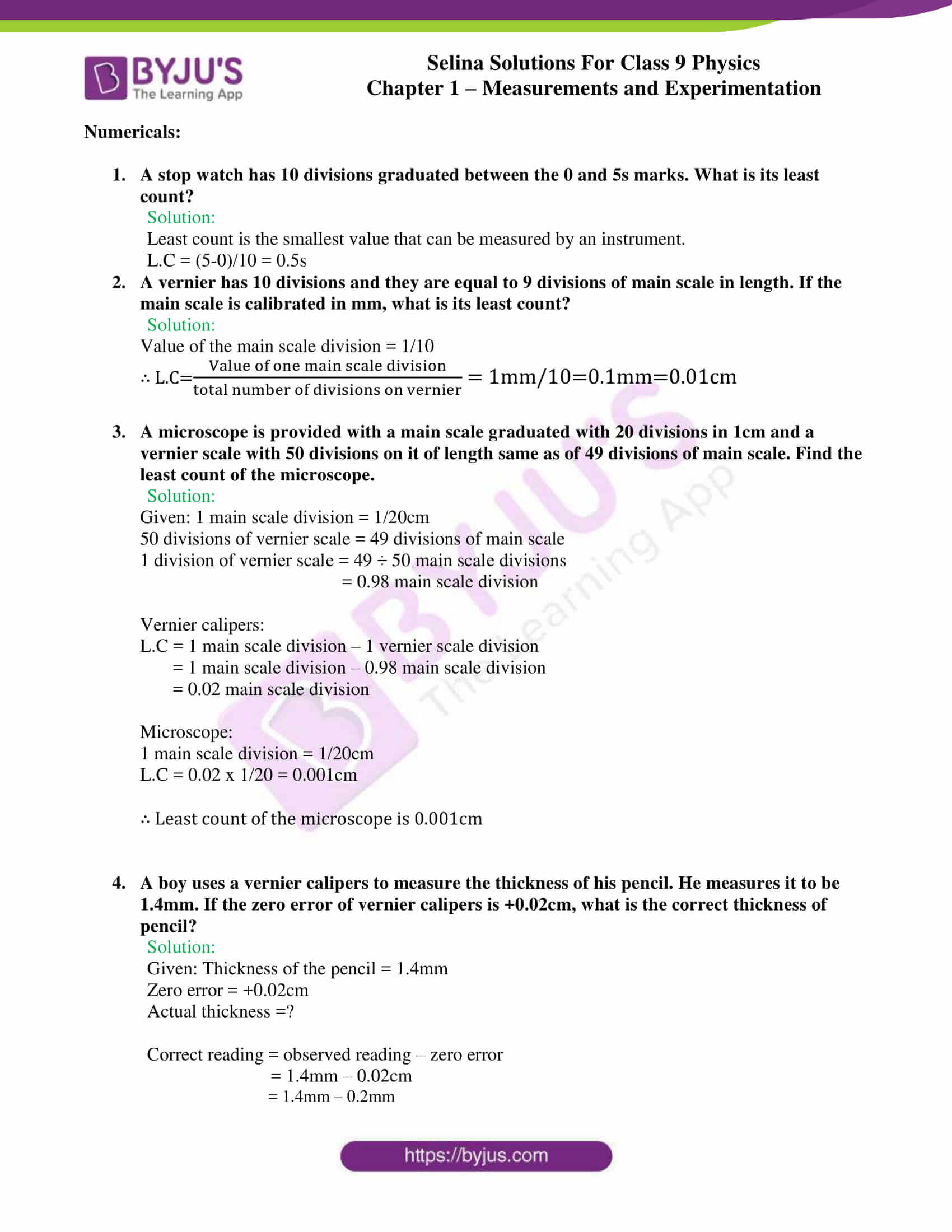 selina solutions class 9 physics chapter 1 Measurements and Experimentation part 20