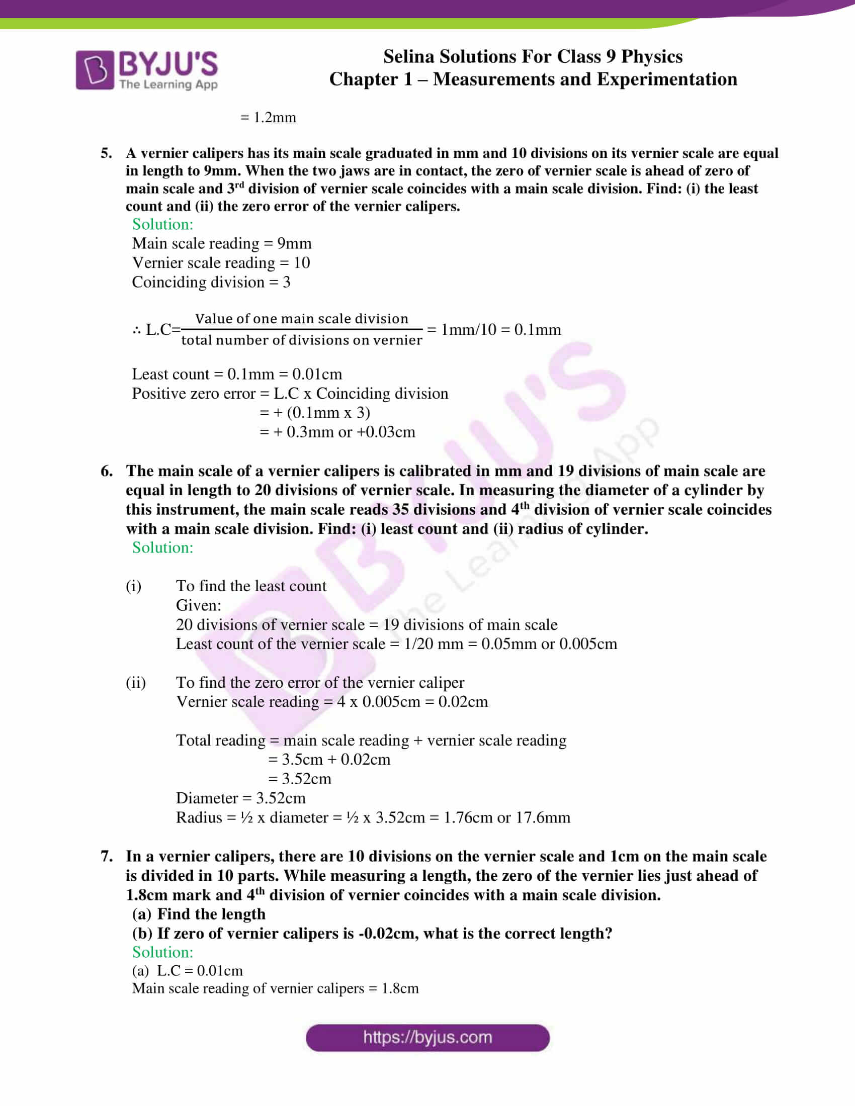 selina solutions class 9 physics chapter 1 Measurements and Experimentation part 21