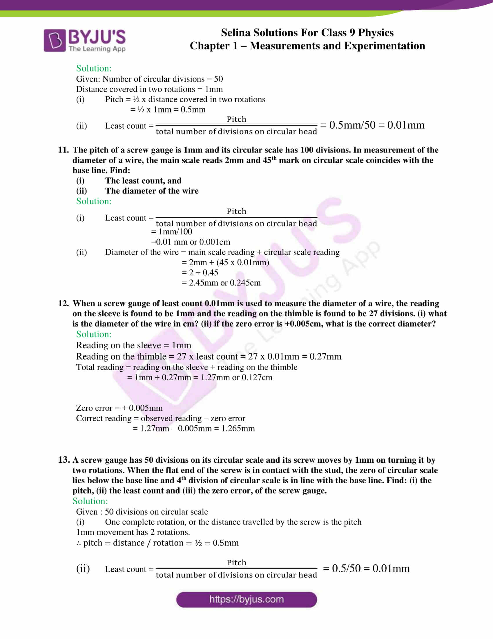 selina solutions class 9 physics chapter 1 Measurements and Experimentation part 23
