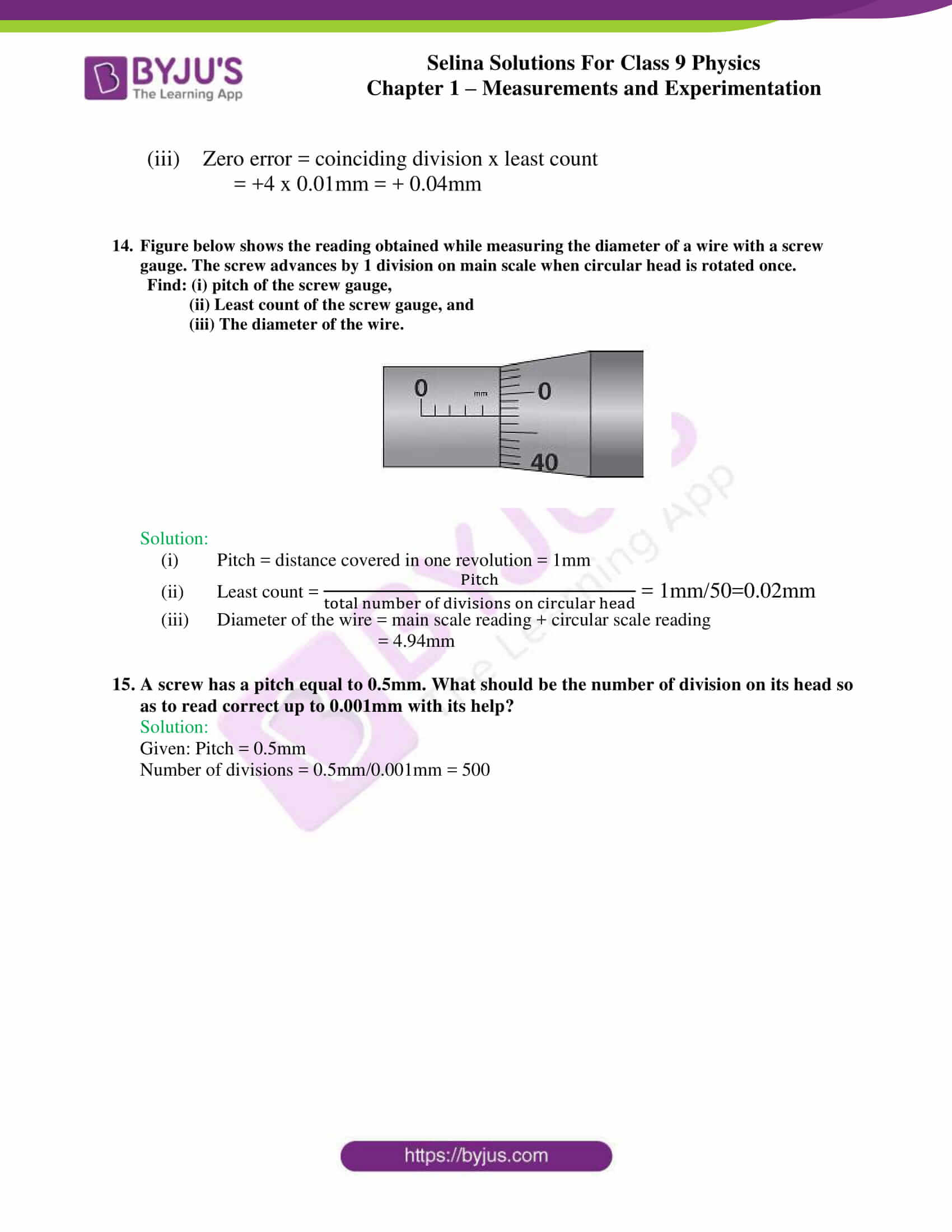 selina solutions class 9 physics chapter 1 Measurements and Experimentation part 24