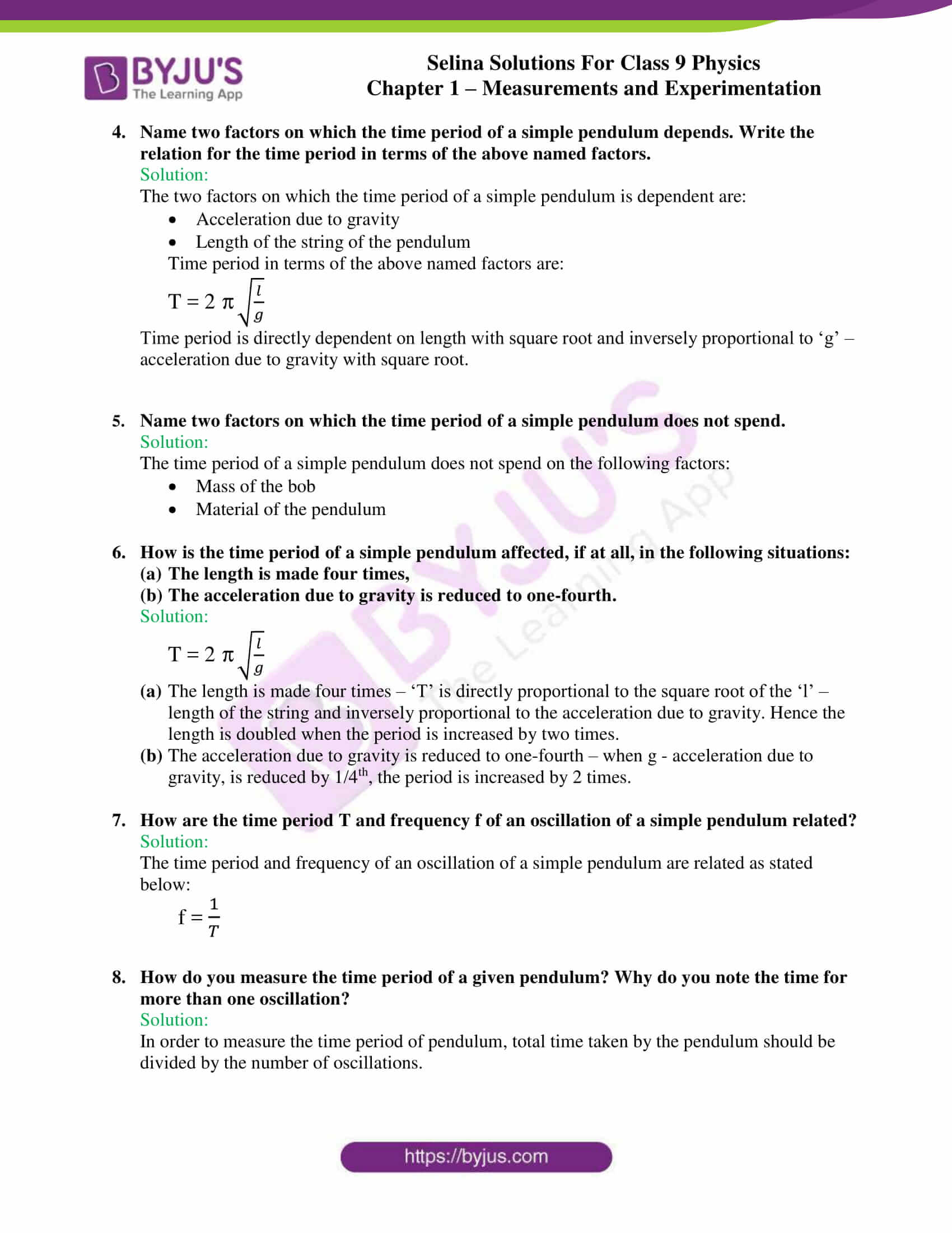selina solutions class 9 physics chapter 1 Measurements and Experimentation part 26
