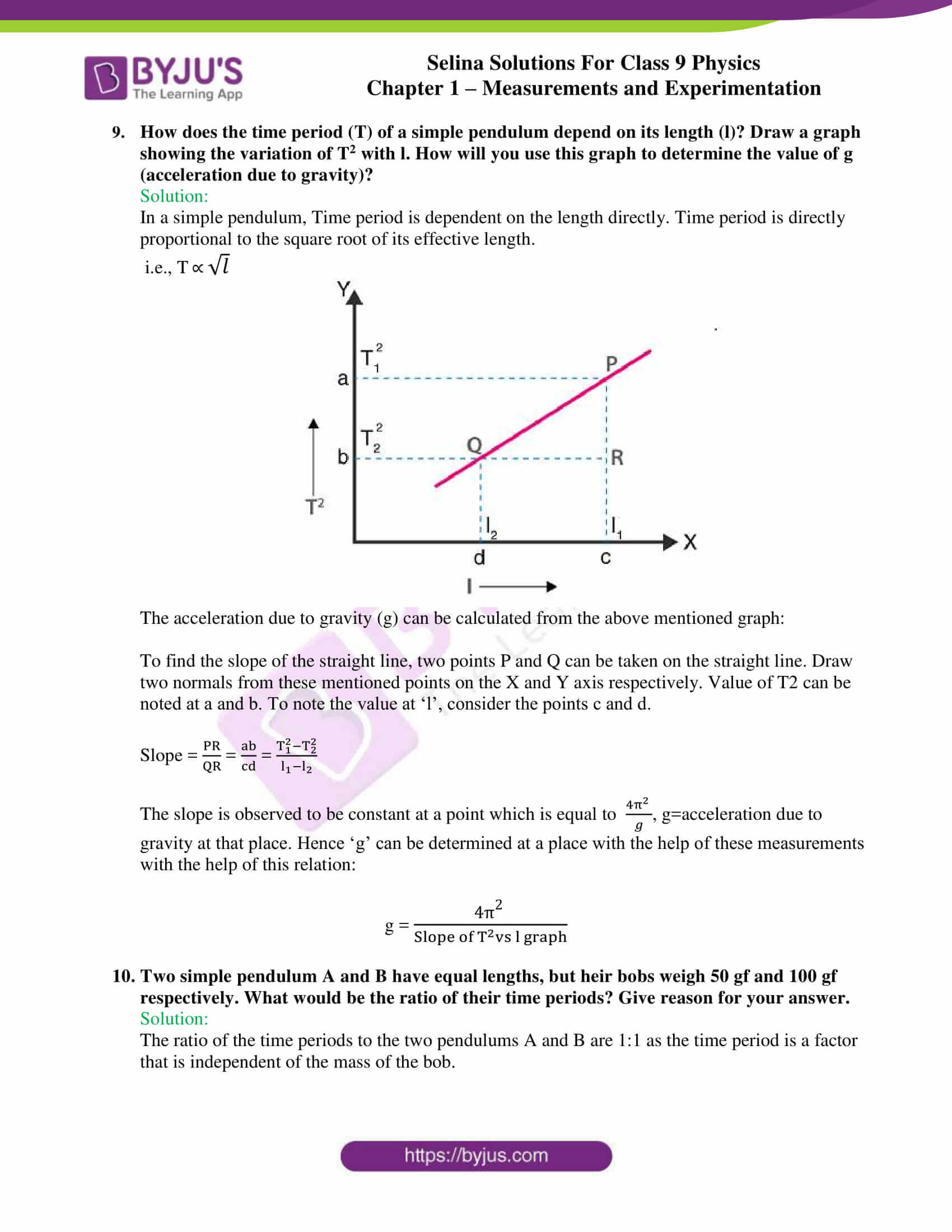 selina solutions class 9 physics chapter 1 Measurements and Experimentation part 27