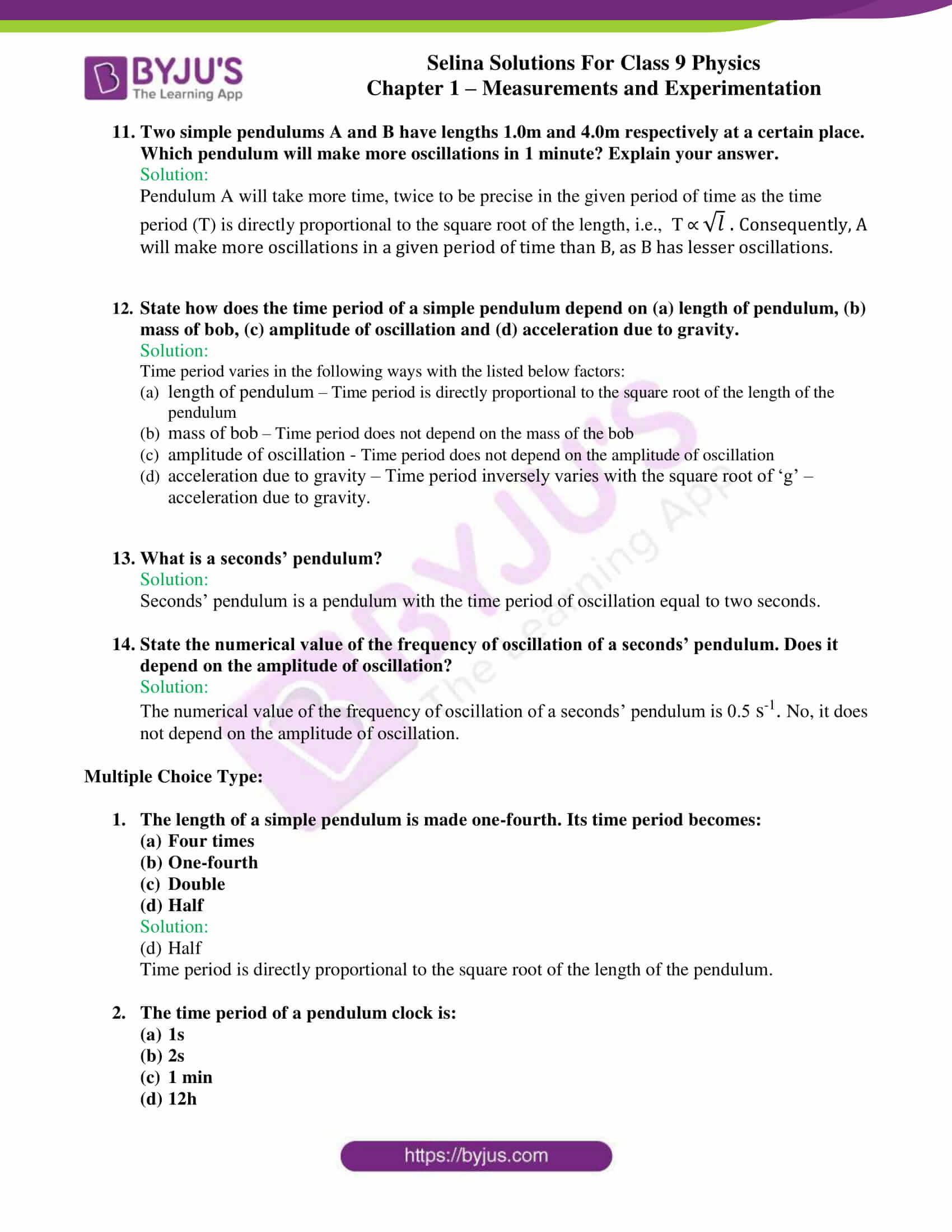 selina solutions class 9 physics chapter 1 Measurements and Experimentation part 28