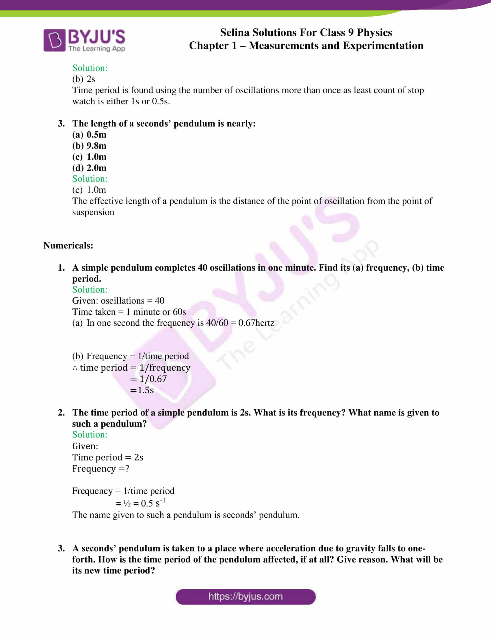 selina solutions class 9 physics chapter 1 Measurements and Experimentation part 29