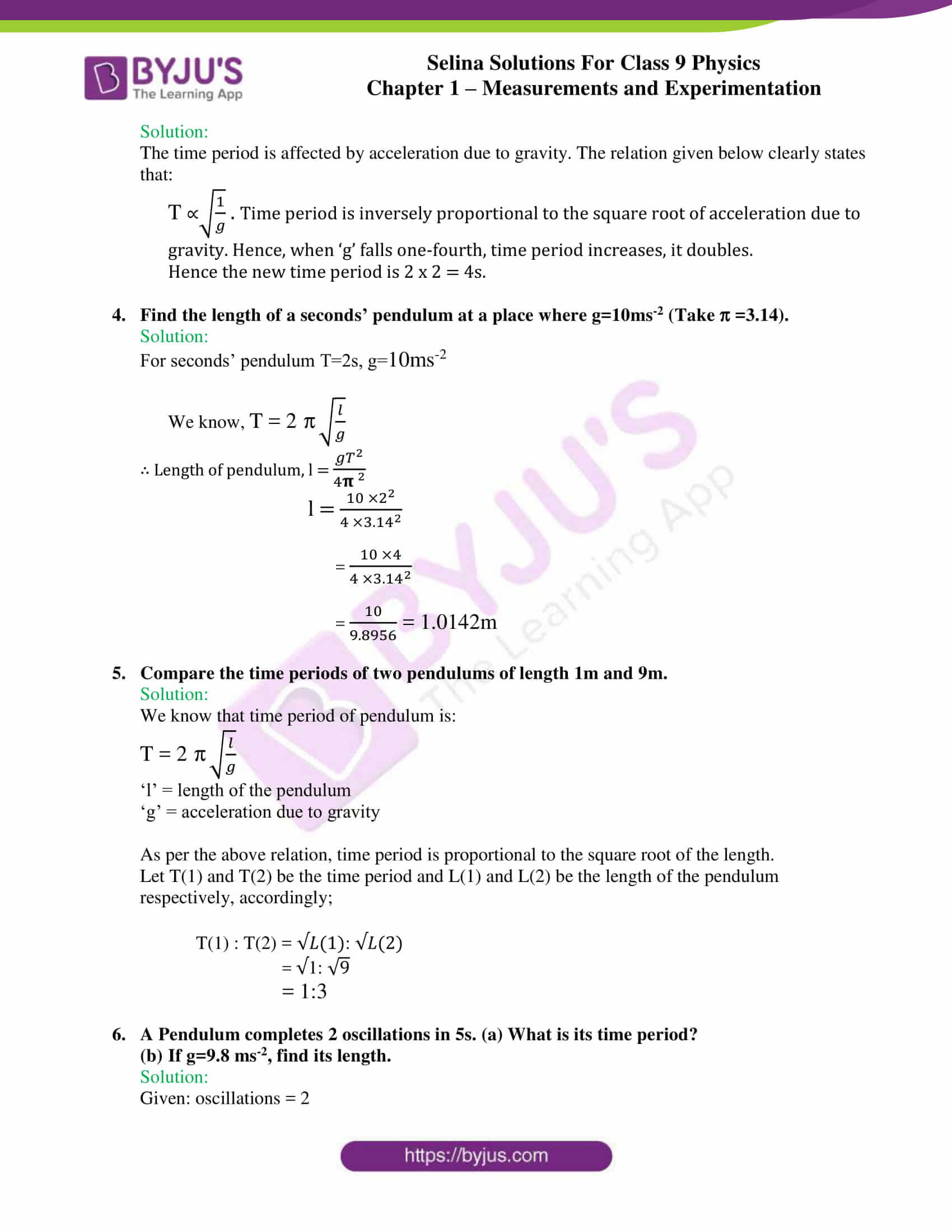 selina solutions class 9 physics chapter 1 Measurements and Experimentation part 30