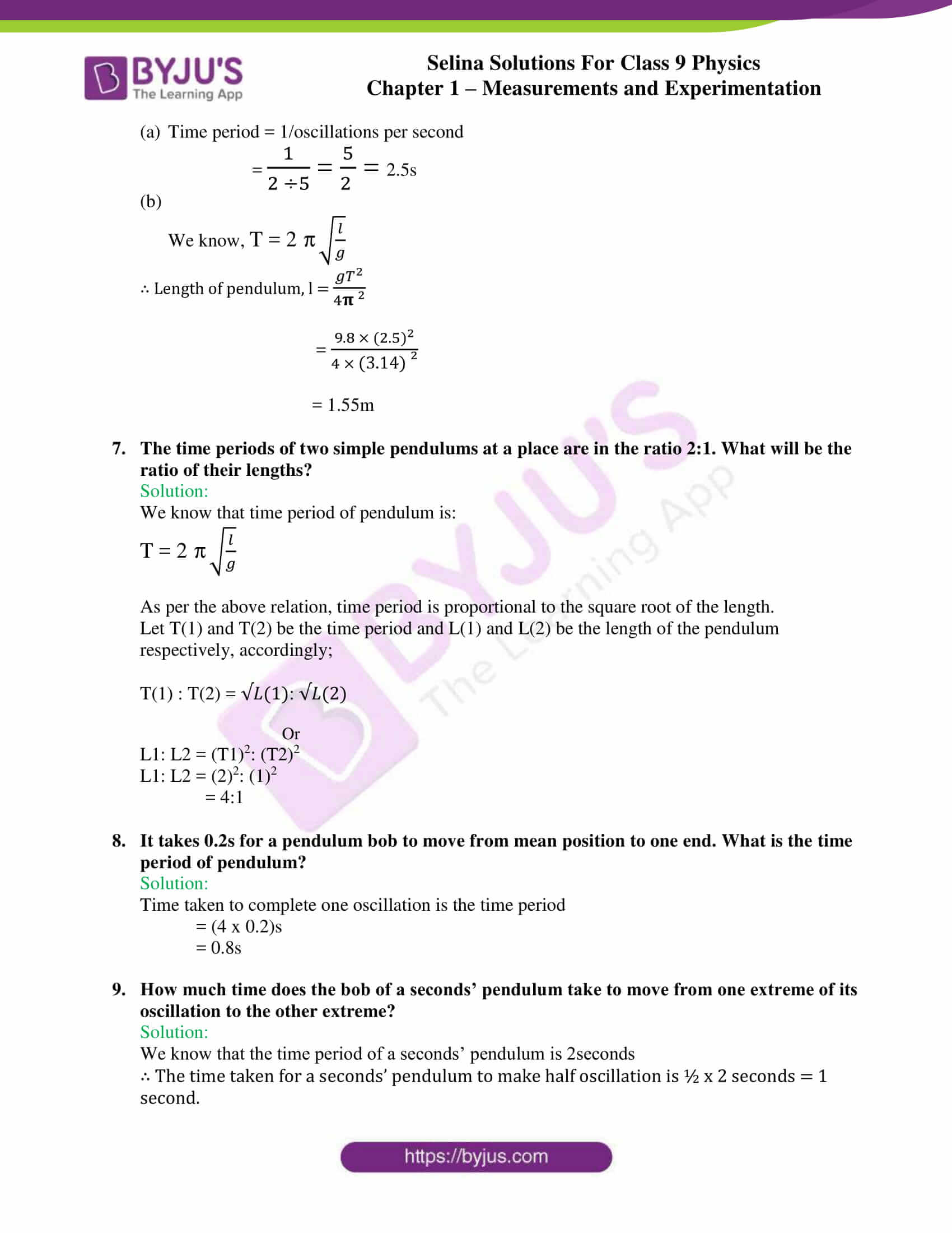 selina solutions class 9 physics chapter 1 Measurements and Experimentation part 31