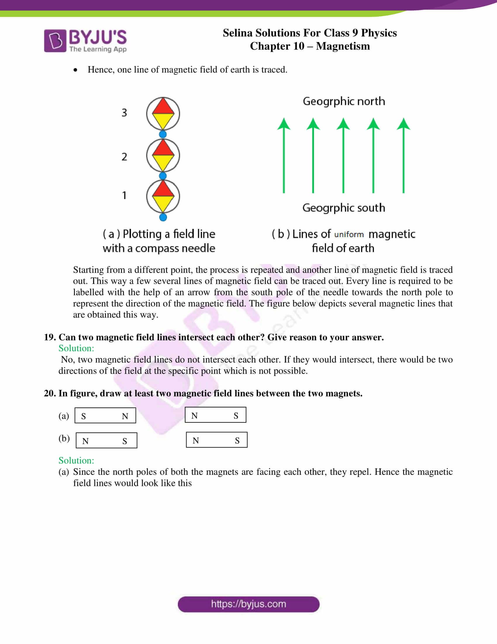 selina solutions class 9 physics chapter 10 Magnetism part 05
