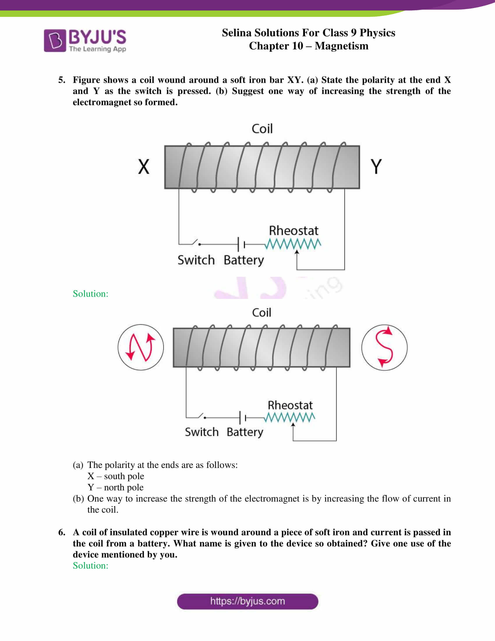 selina solutions class 9 physics chapter 10 Magnetism part 12