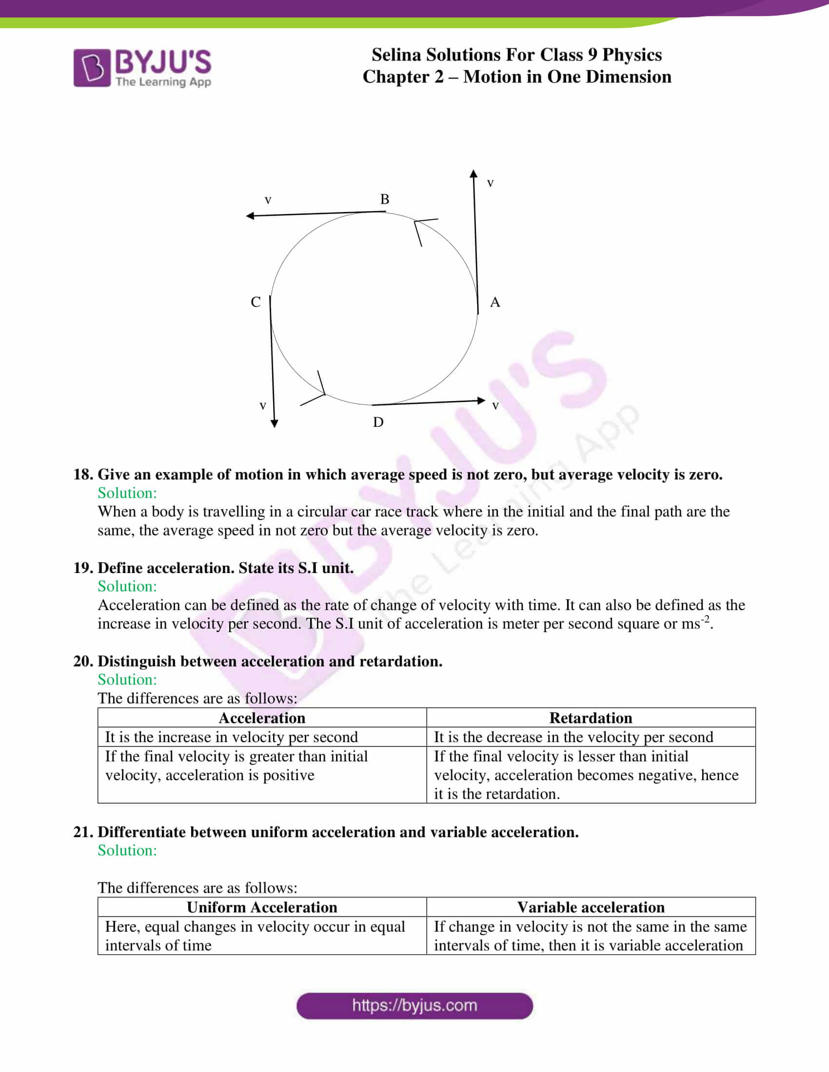 selina solutions class 9 physics chapter 2 Motion in One Dimension part 04