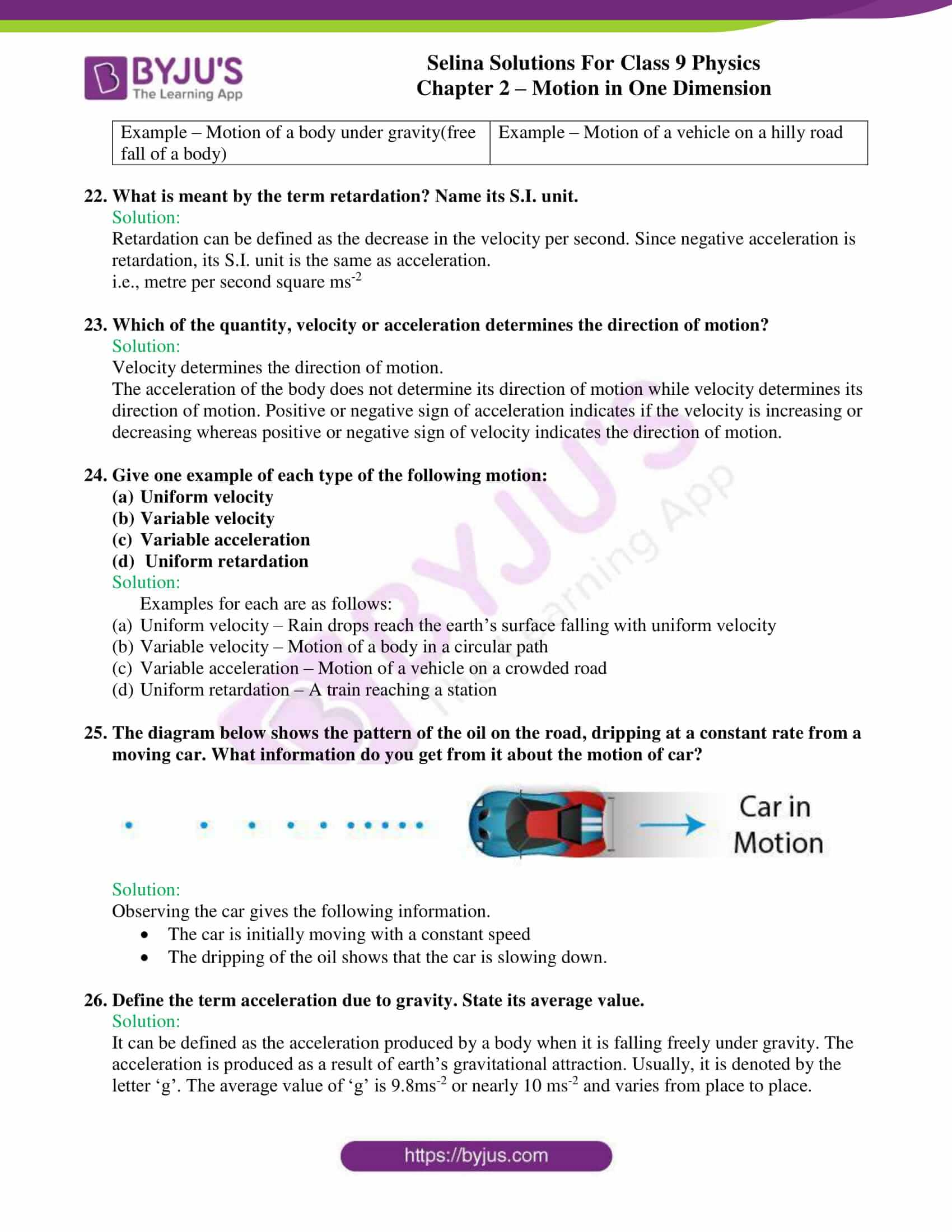 selina solutions class 9 physics chapter 2 Motion in One Dimension part 05
