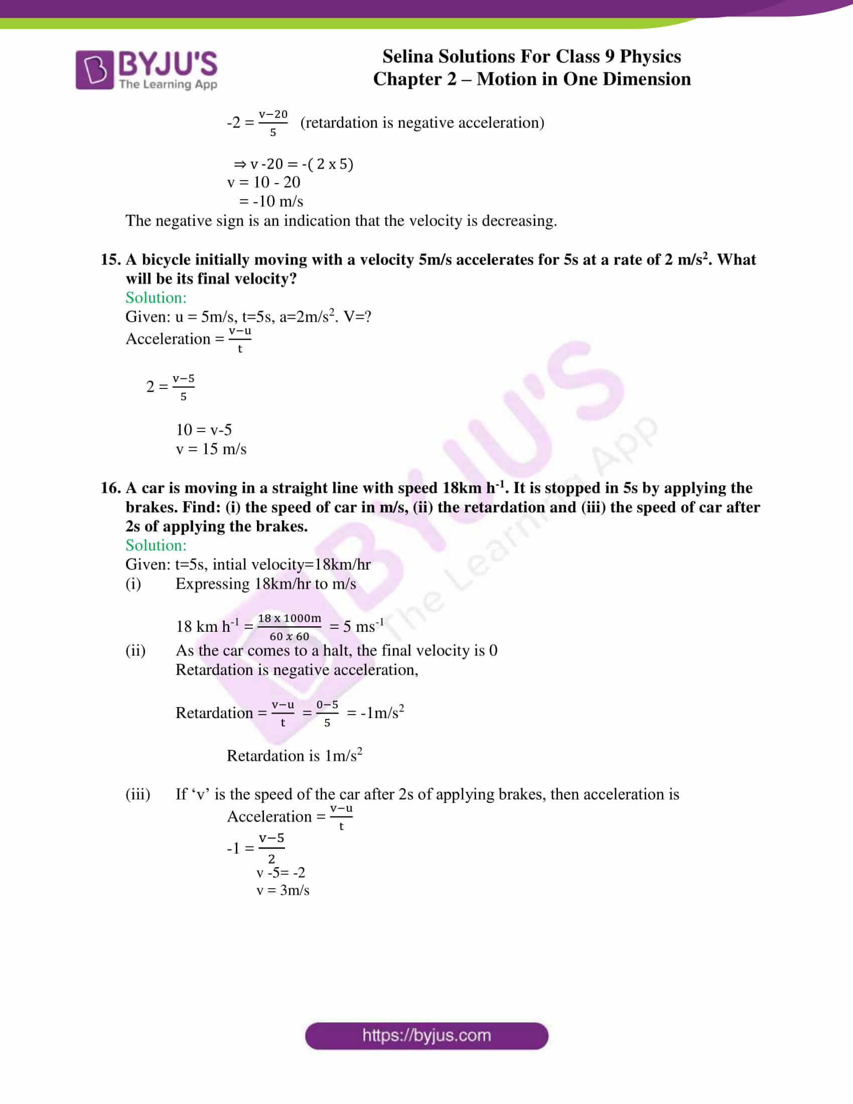 selina solutions class 9 physics chapter 2 Motion in One Dimension part 11