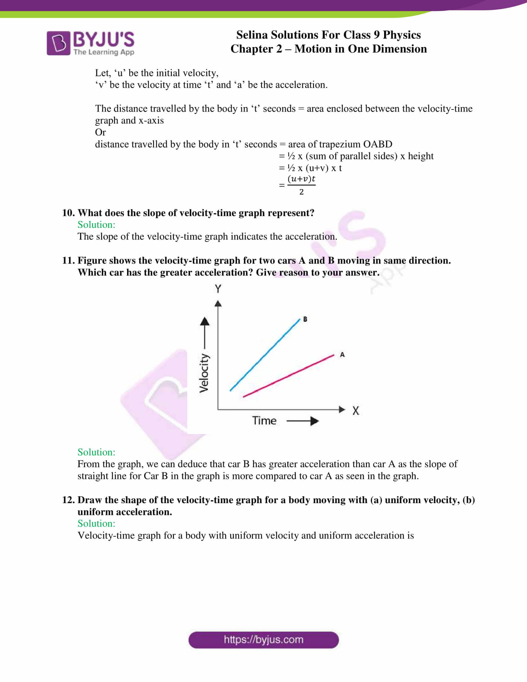 selina solutions class 9 physics chapter 2 Motion in One Dimension part 15