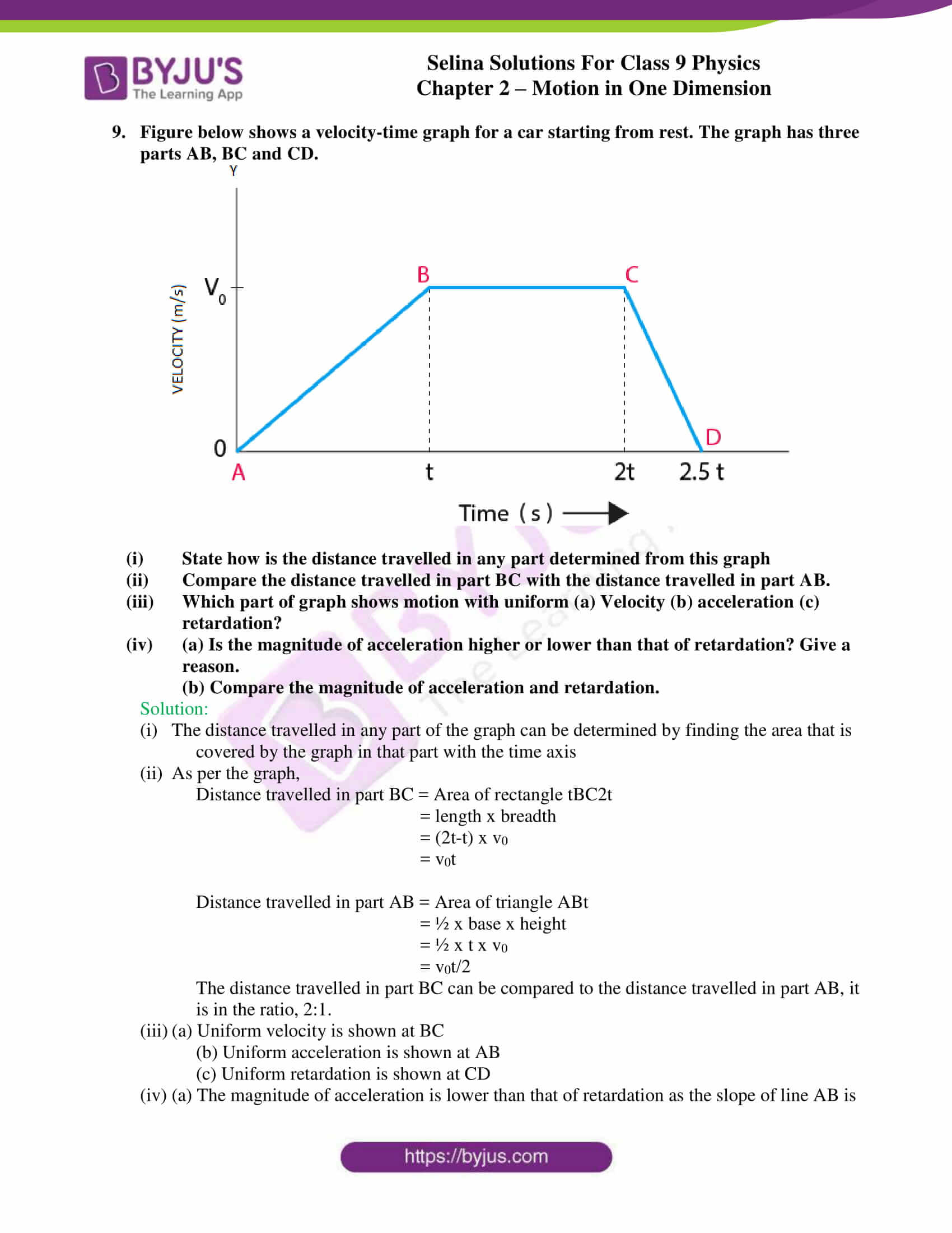 selina solutions class 9 physics chapter 2 Motion in One Dimension part 26