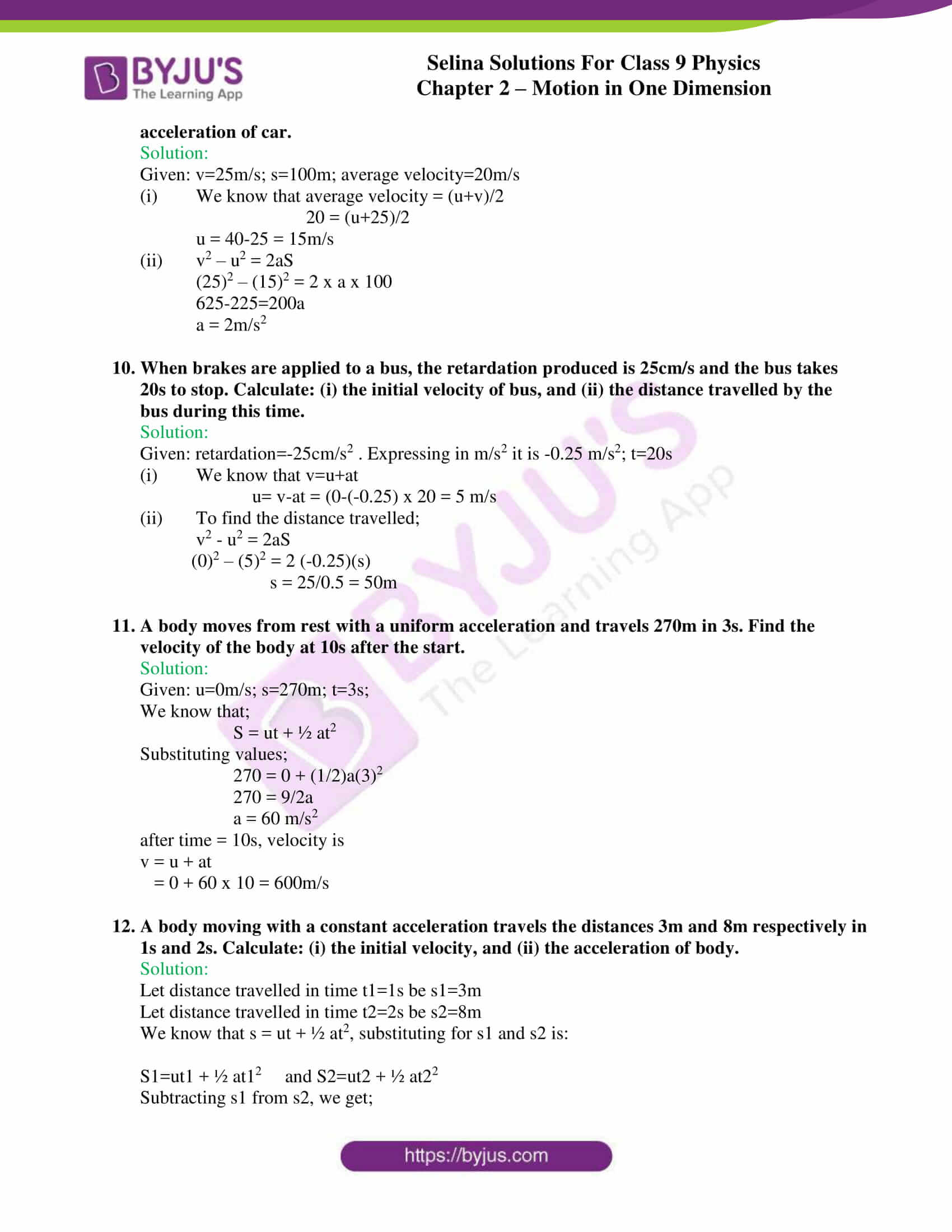 selina solutions class 9 physics chapter 2 Motion in One Dimension part 36