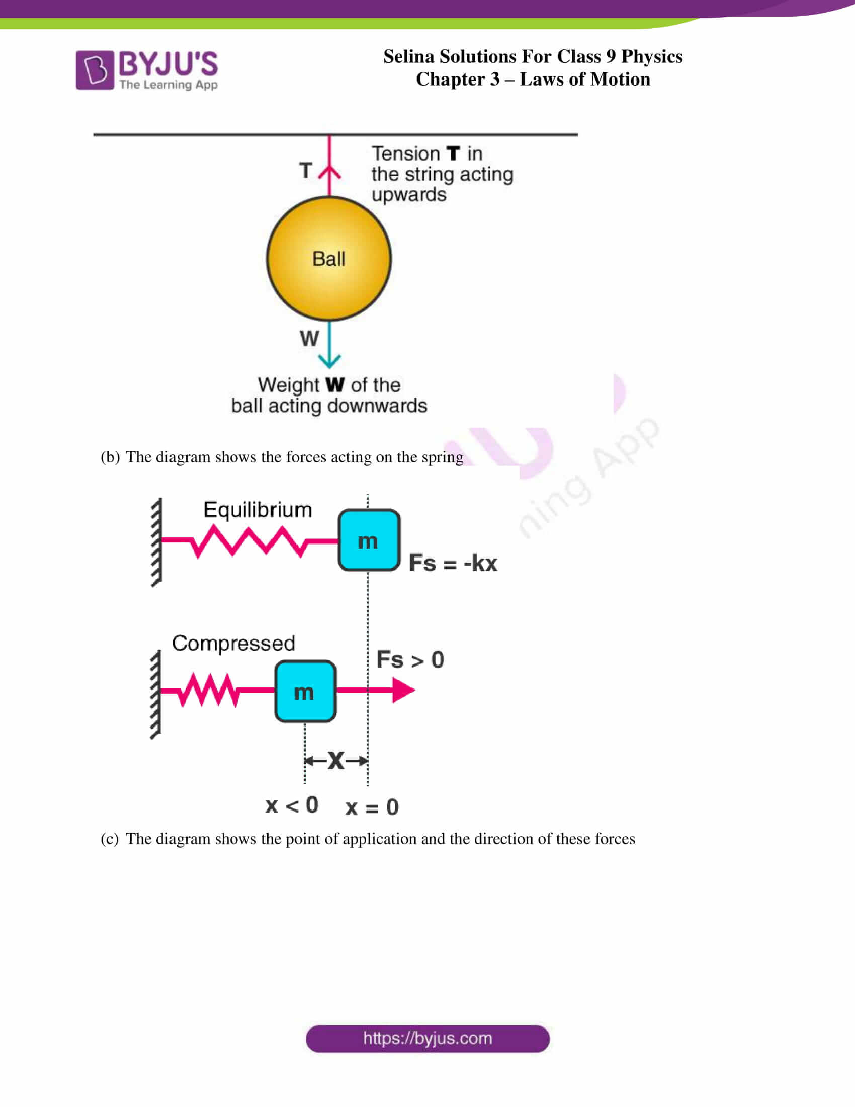 selina solutions class 9 physics chapter 3 Laws of Motion part 02