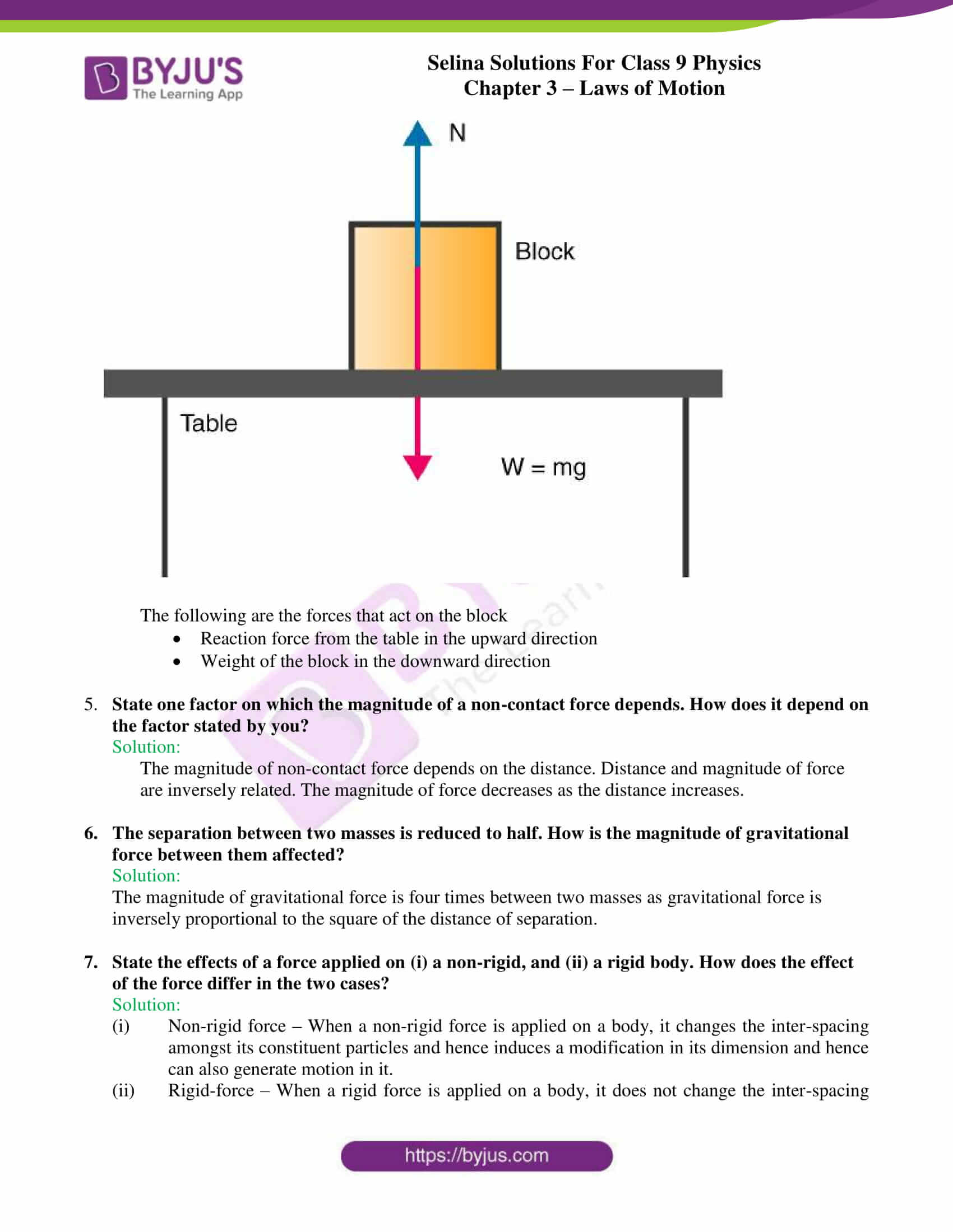 selina solutions class 9 physics chapter 3 Laws of Motion part 03