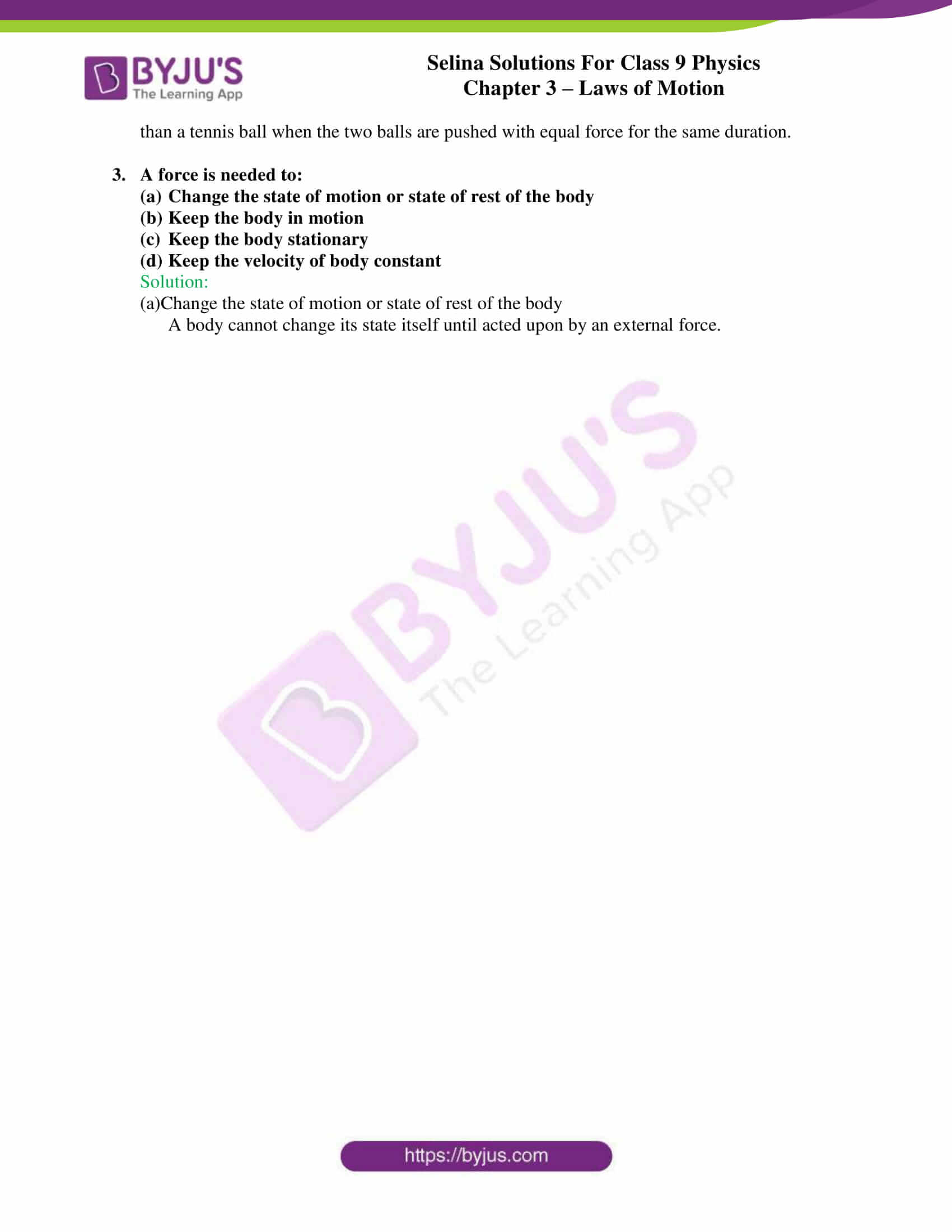 selina solutions class 9 physics chapter 3 Laws of Motion part 09