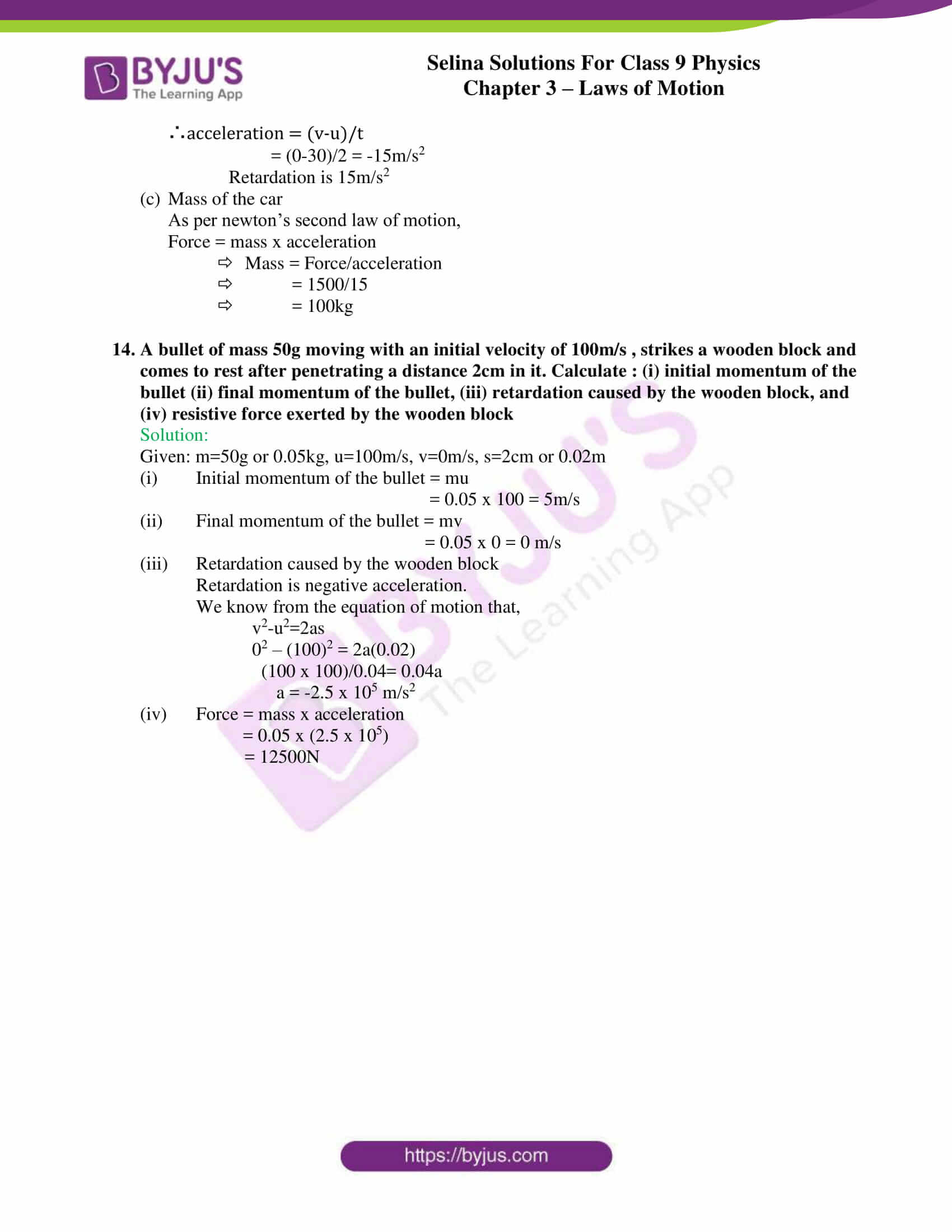 selina solutions class 9 physics chapter 3 Laws of Motion part 20