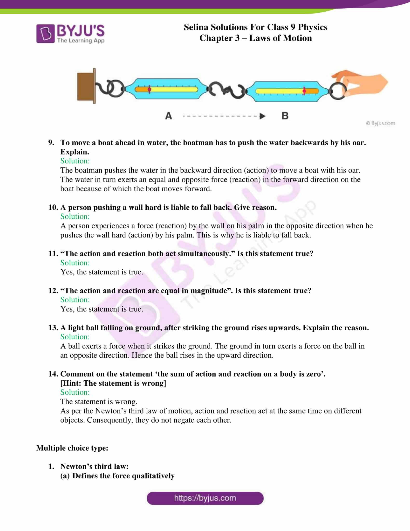 selina solutions class 9 physics chapter 3 Laws of Motion part 24