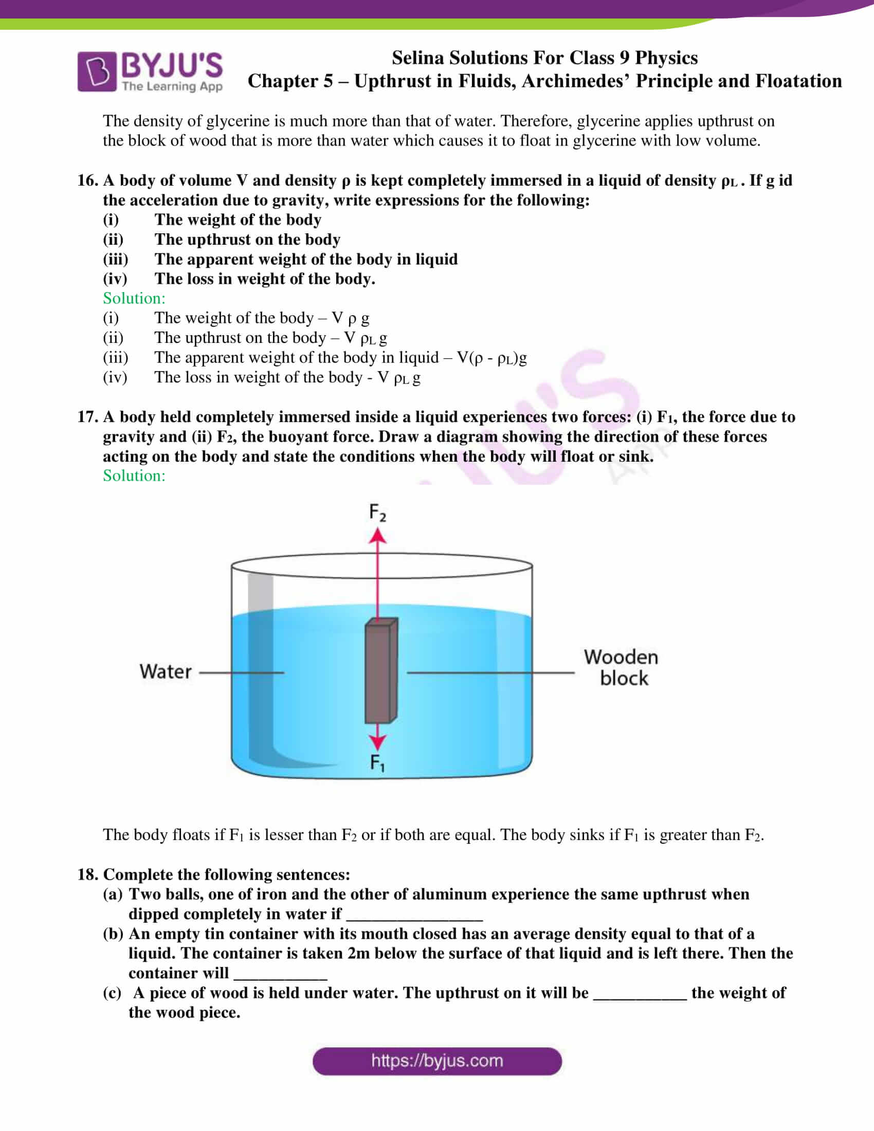 selina solutions class 9 physics chapter 5 part 04